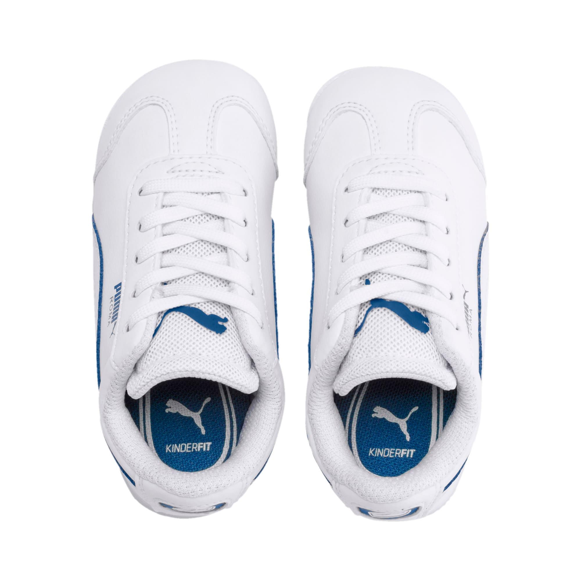 Thumbnail 6 of Scuderia Ferrari Roma Toddler Shoes, White-White-Galaxy Blue, medium
