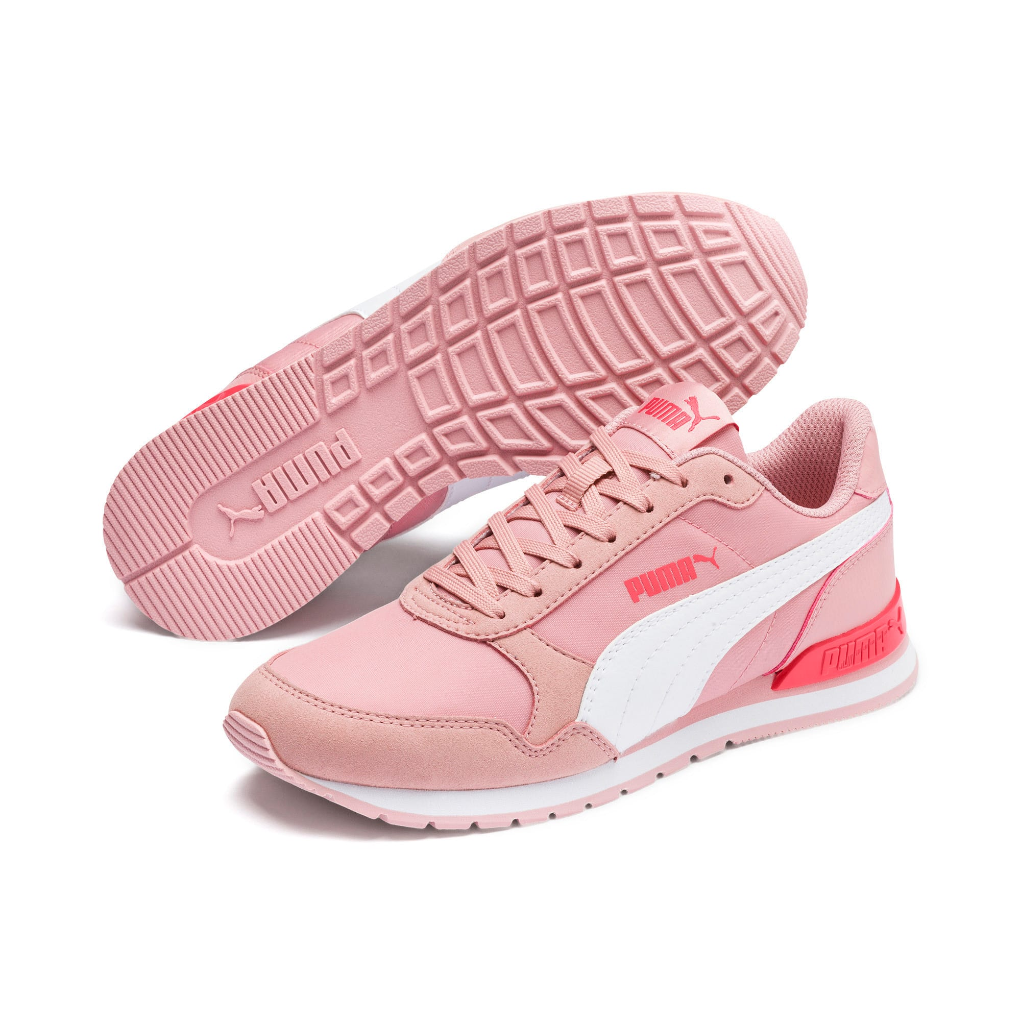 Thumbnail 2 of ST Runner v2 NL Sneakers JR, Bridal Rose-Puma White, medium