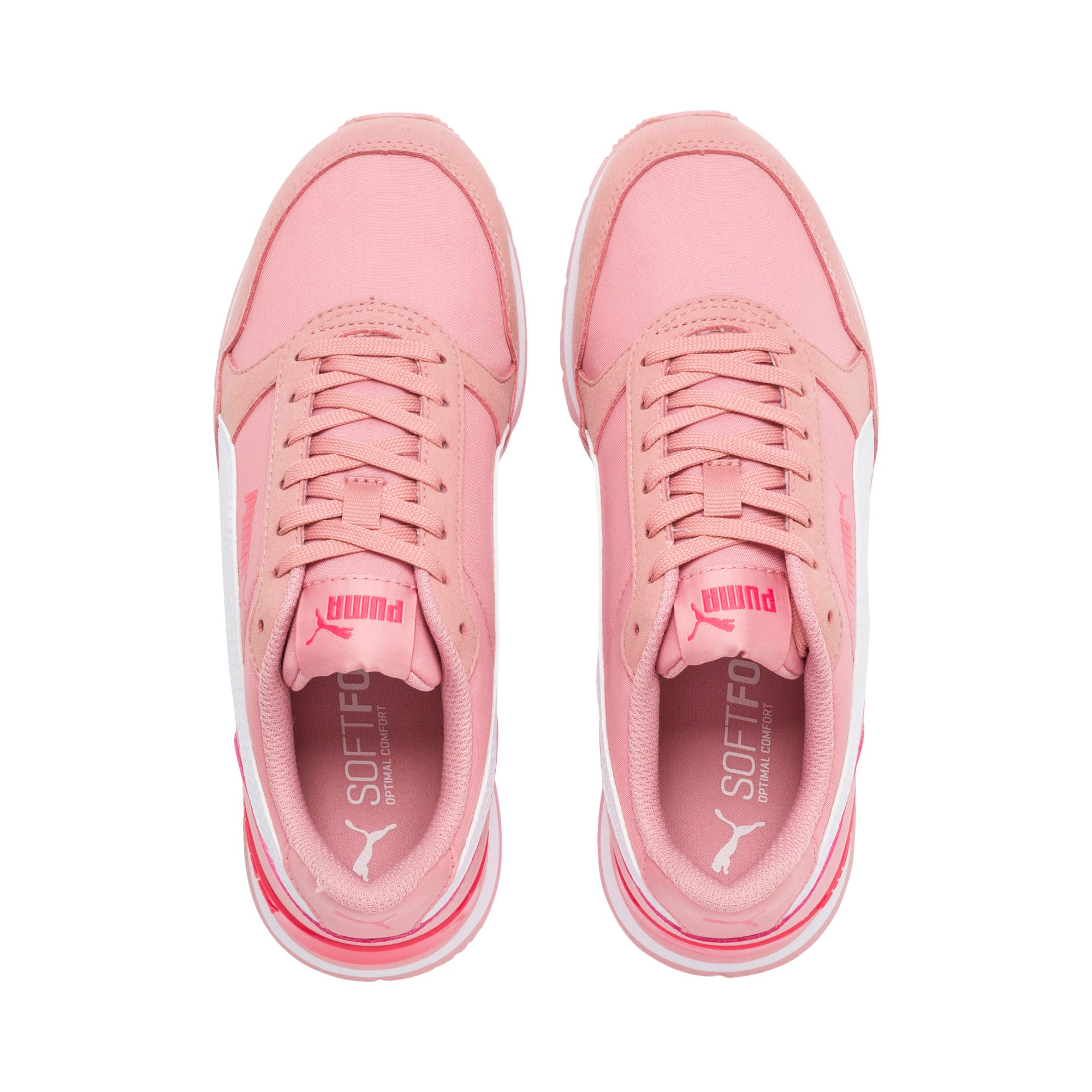 Thumbnail 6 of ST Runner v2 NL Sneakers JR, Bridal Rose-Puma White, medium