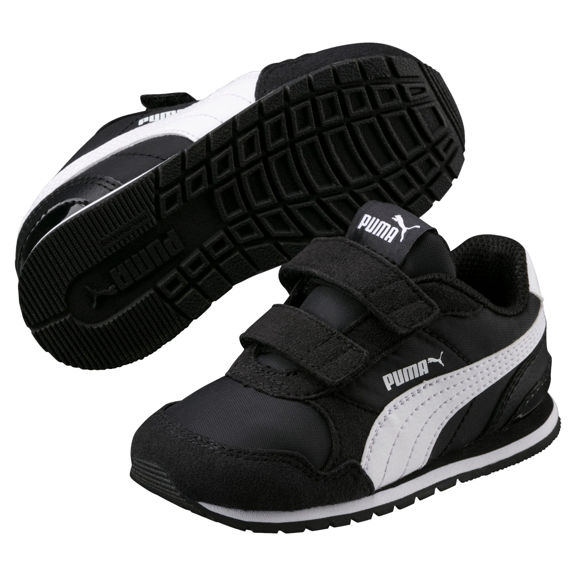 Thumbnail 2 of ST Runner v2 Little Kids' Shoes, Puma Black-Puma White, medium