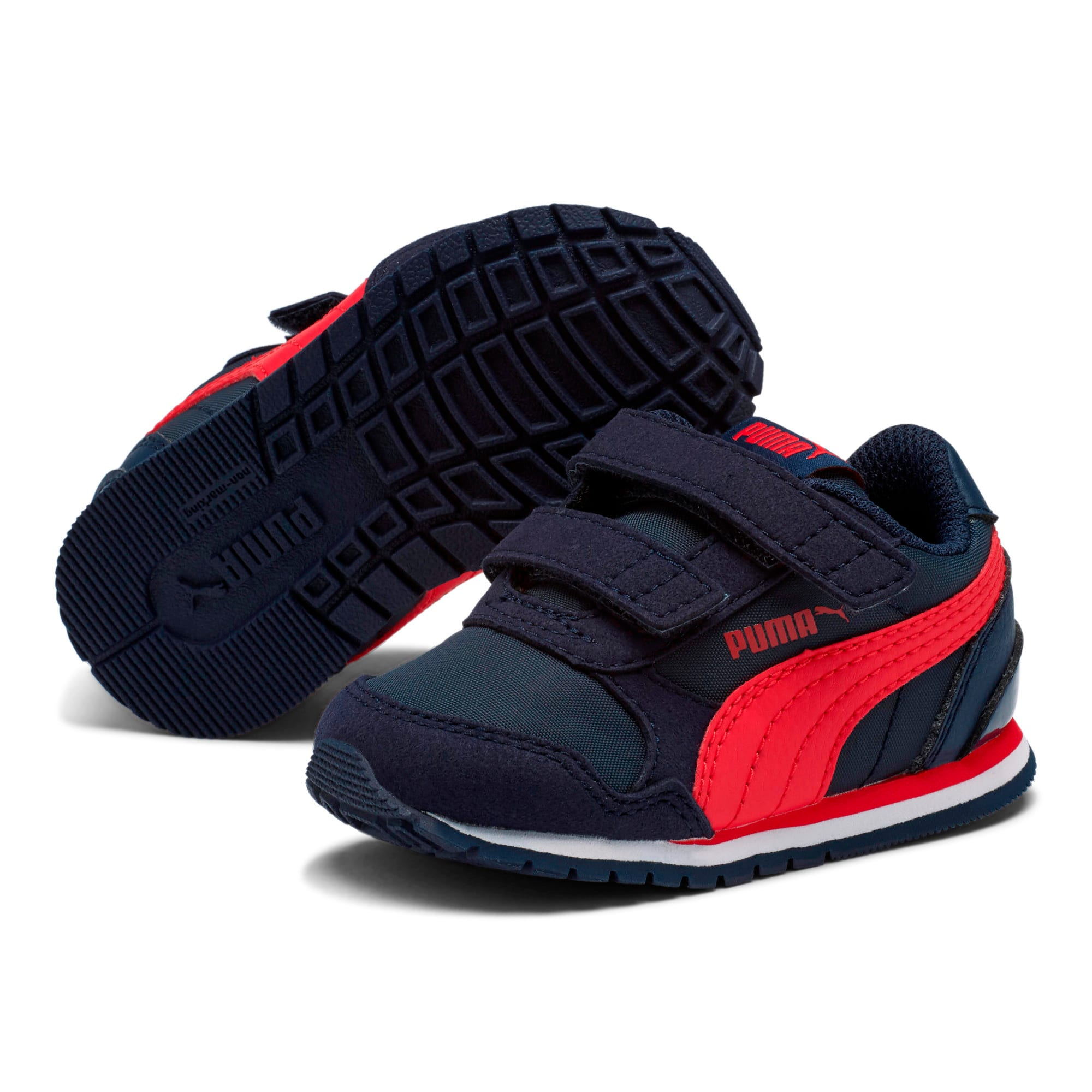 Thumbnail 2 of ST Runner V2 V Toddler Shoes, Peacoat-Ribbon Red, medium