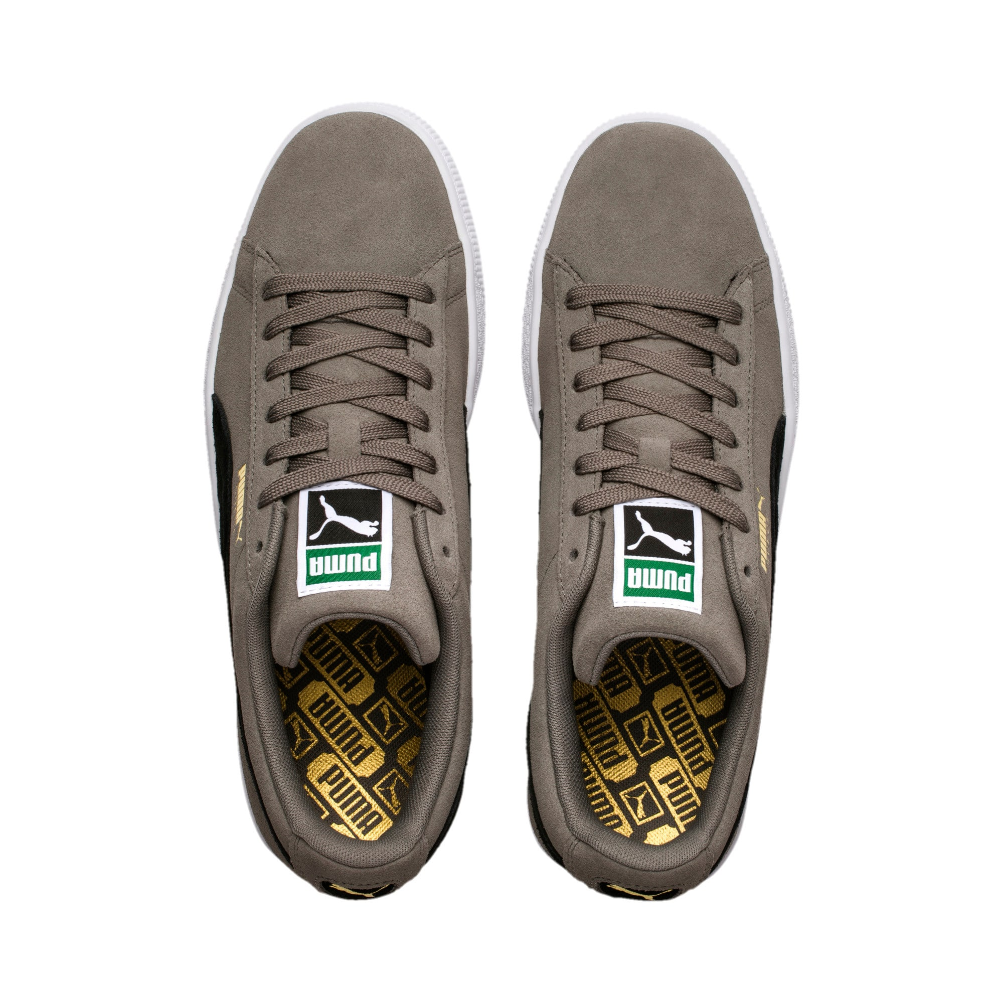 Thumbnail 6 of Suede Classic Trainers, Charcoal Gray-Puma Black, medium