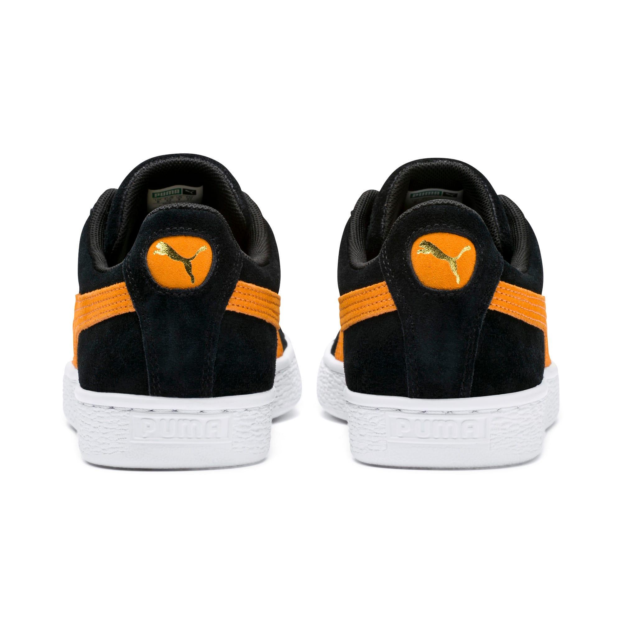 Imagen en miniatura 4 de Zapatillas Suede Classic, Puma Black-Orange Pop, mediana