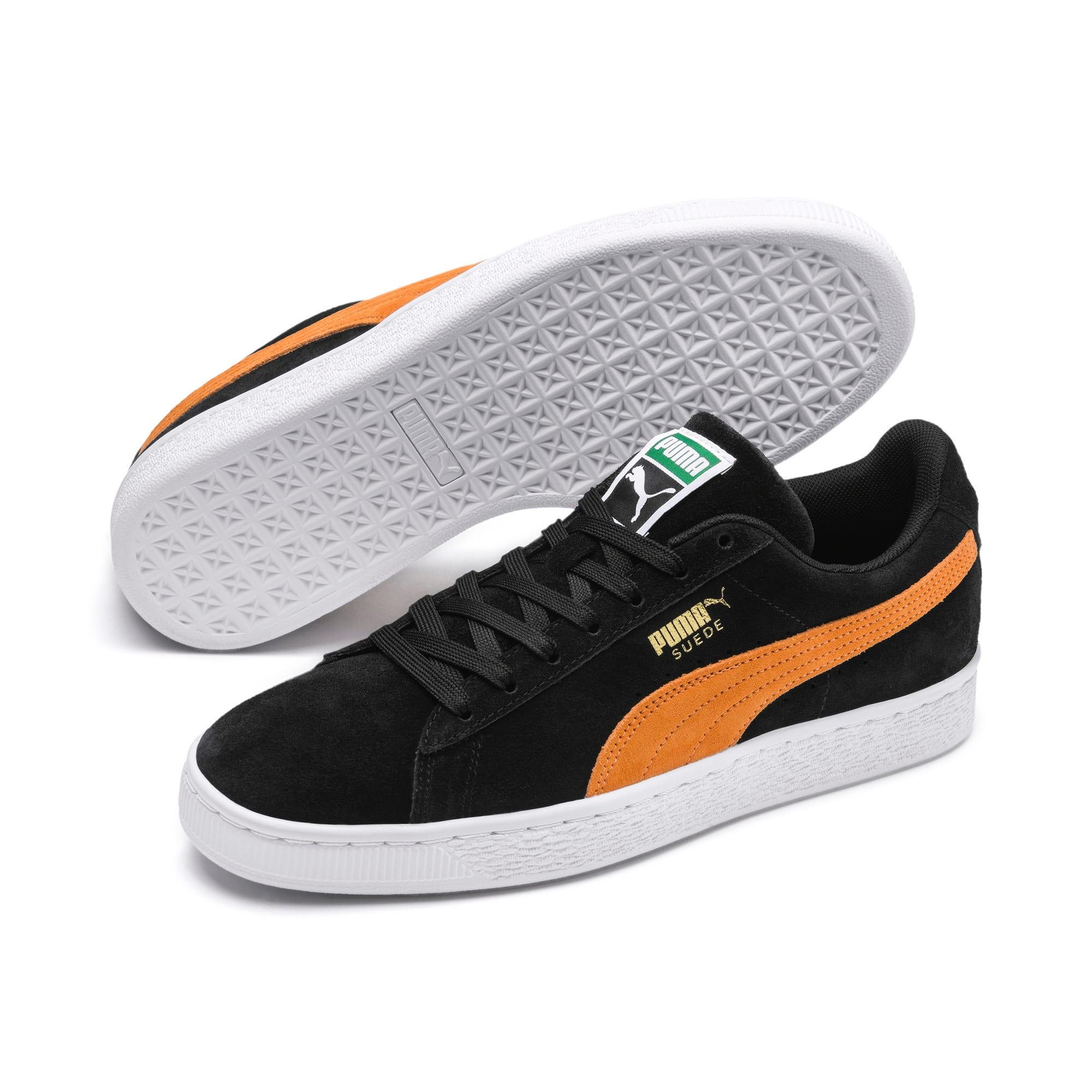 Imagen en miniatura 3 de Zapatillas Suede Classic, Puma Black-Orange Pop, mediana