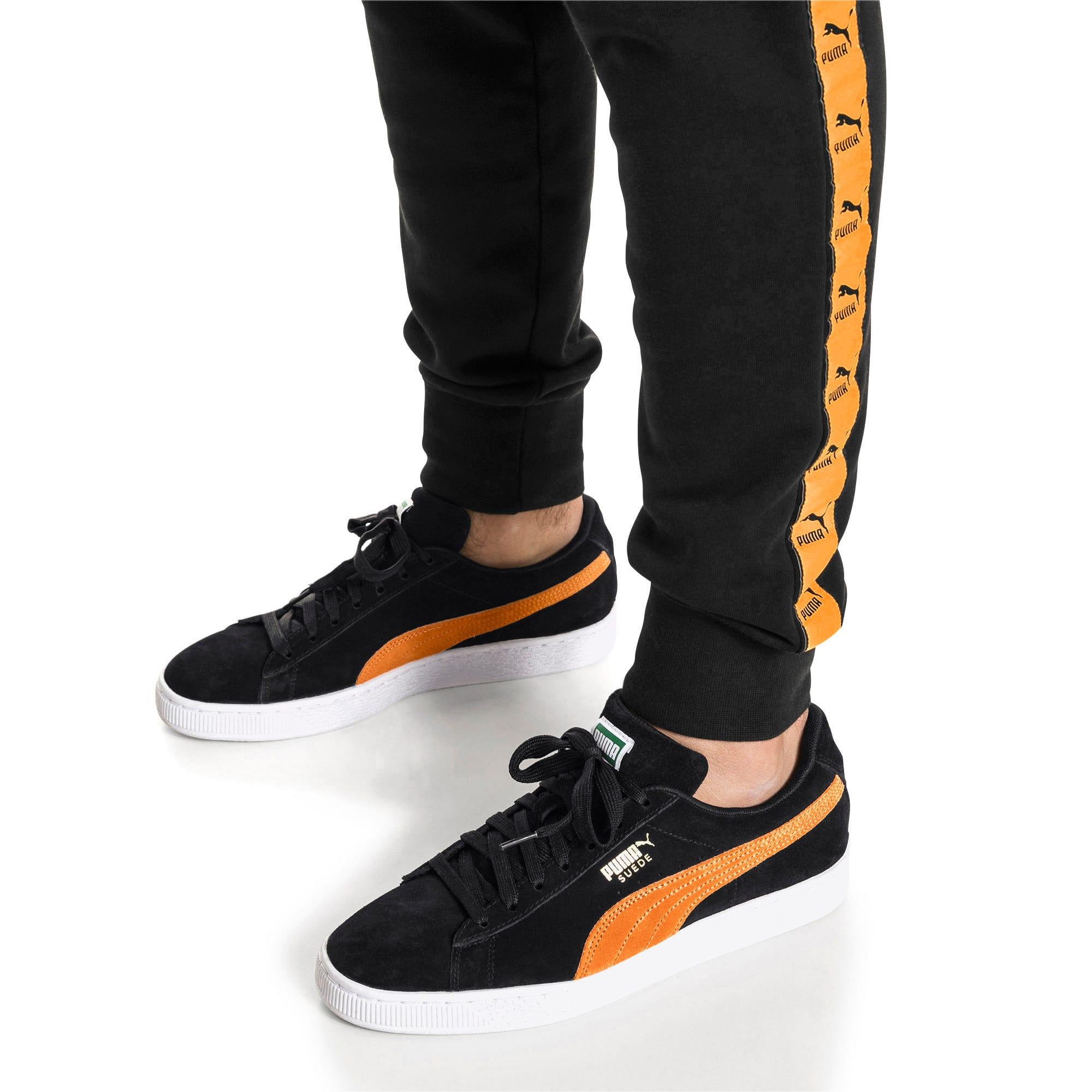 Imagen en miniatura 2 de Zapatillas Suede Classic, Puma Black-Orange Pop, mediana
