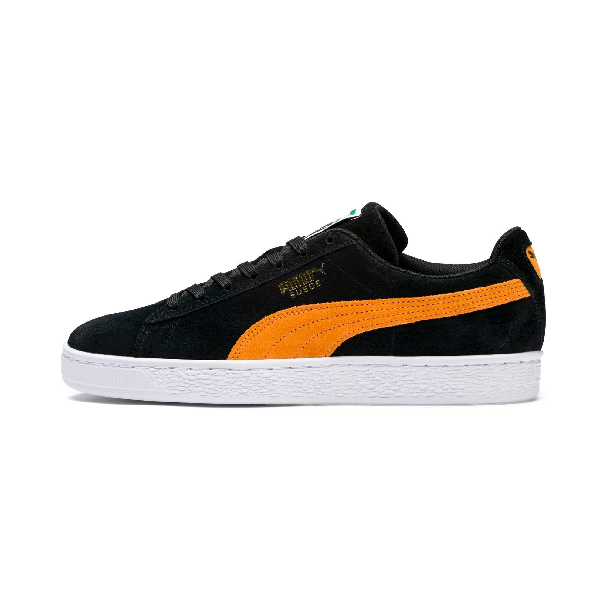 Imagen en miniatura 1 de Zapatillas Suede Classic, Puma Black-Orange Pop, mediana