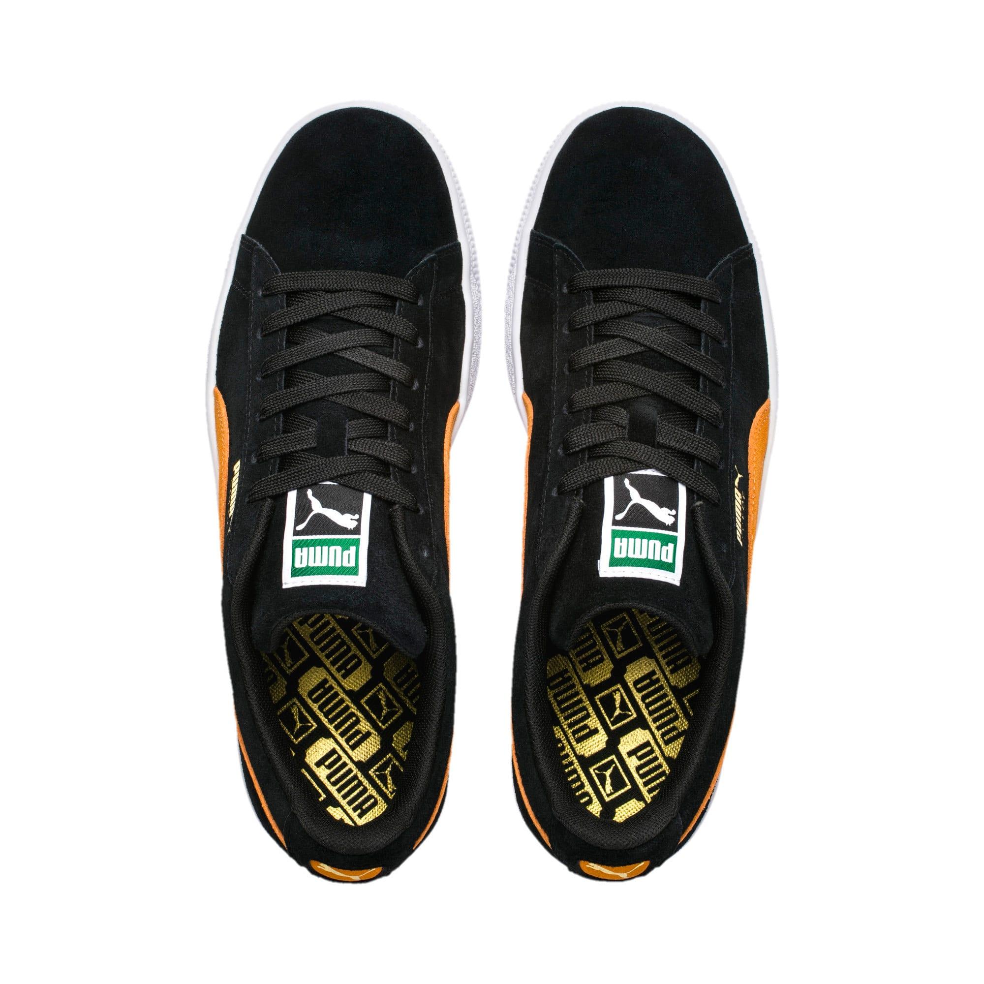 Imagen en miniatura 7 de Zapatillas Suede Classic, Puma Black-Orange Pop, mediana