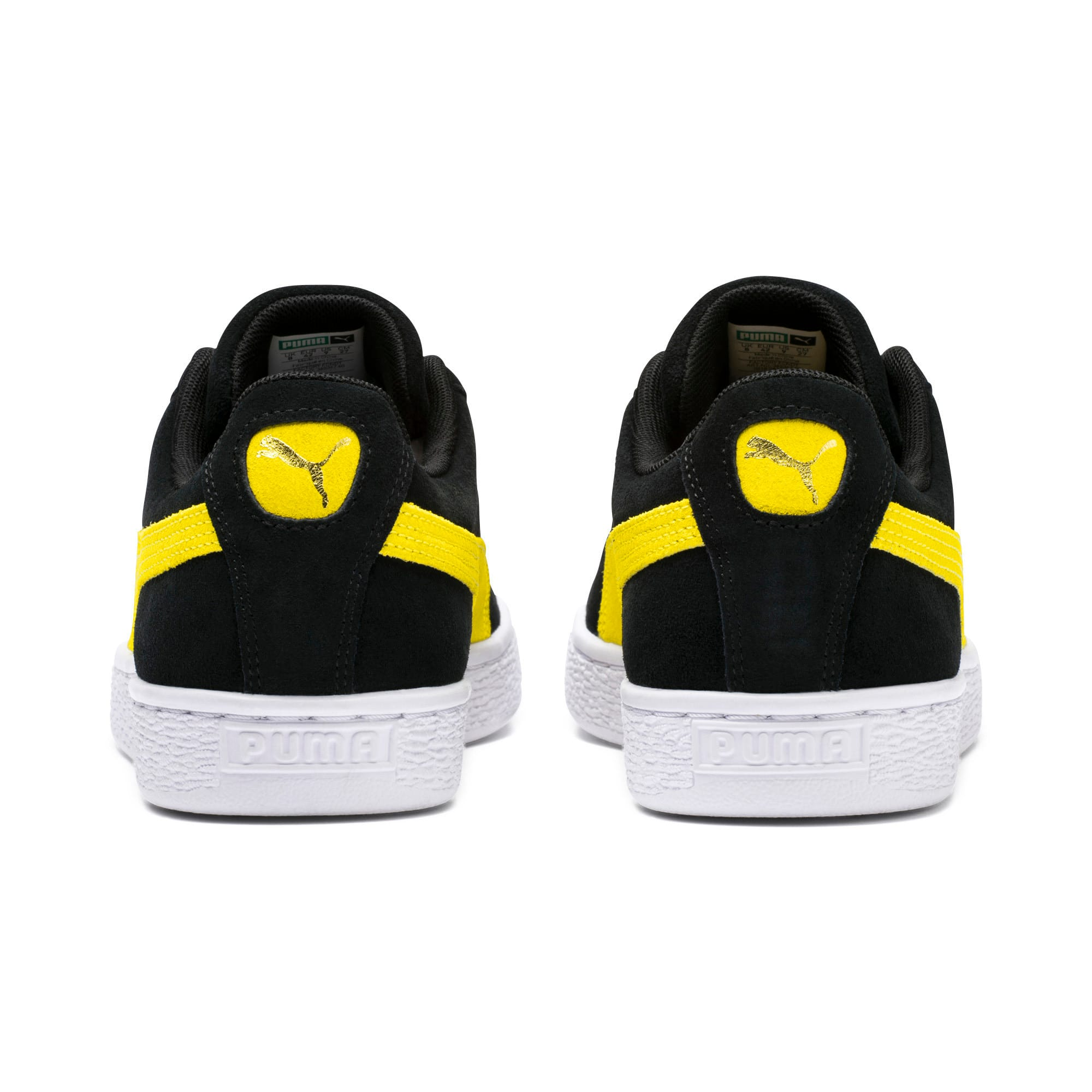 Thumbnail 3 of Suede Classic Trainers, Puma Black-Blazing Yellow, medium
