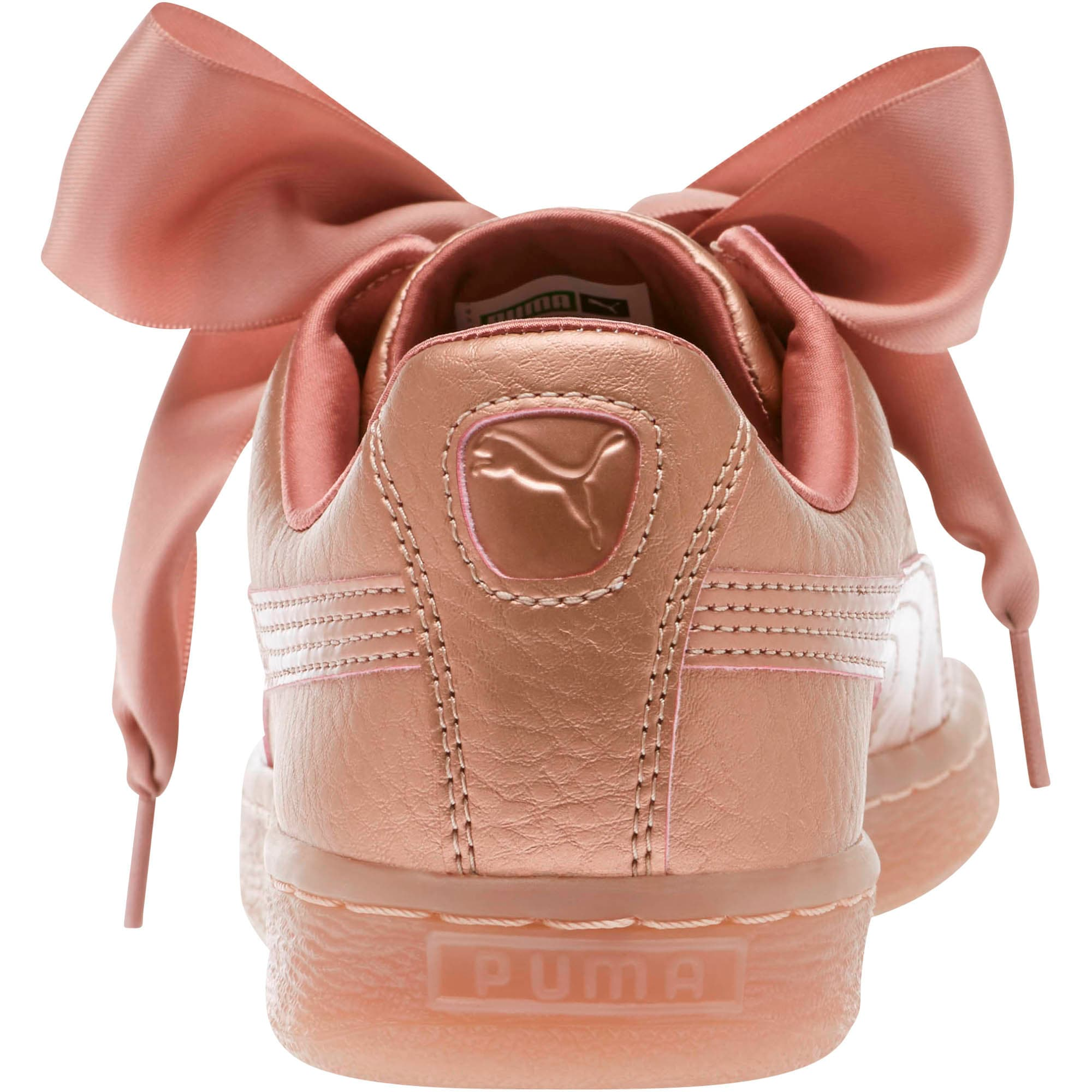 Womens – Puma Basket Heart Copper Women's Sneakers Lifestyle Copper Rose