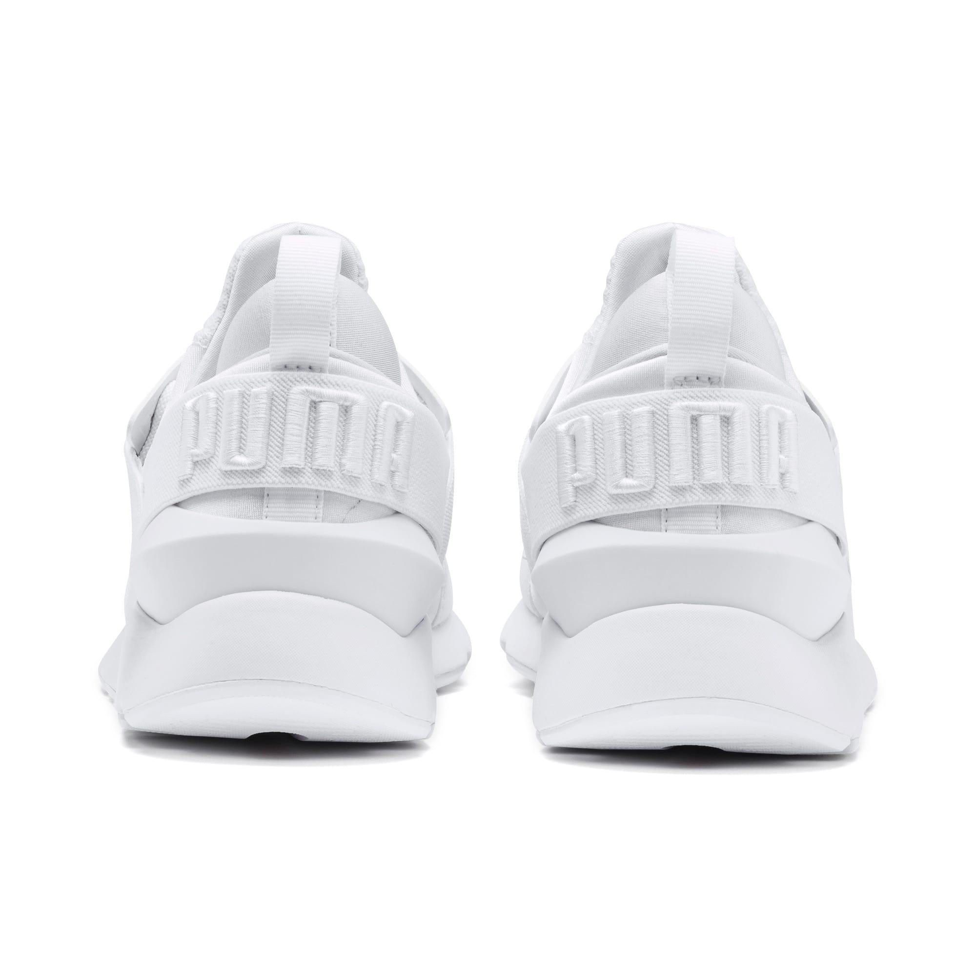 Thumbnail 3 of En Pointe Muse Satin Women's Sneakers, Puma White-Puma White, medium