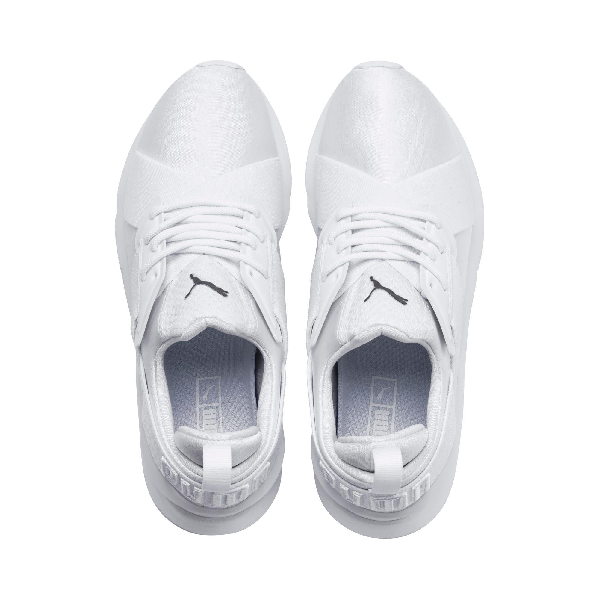 Thumbnail 6 of En Pointe Muse Satin Women's Sneakers, Puma White-Puma White, medium