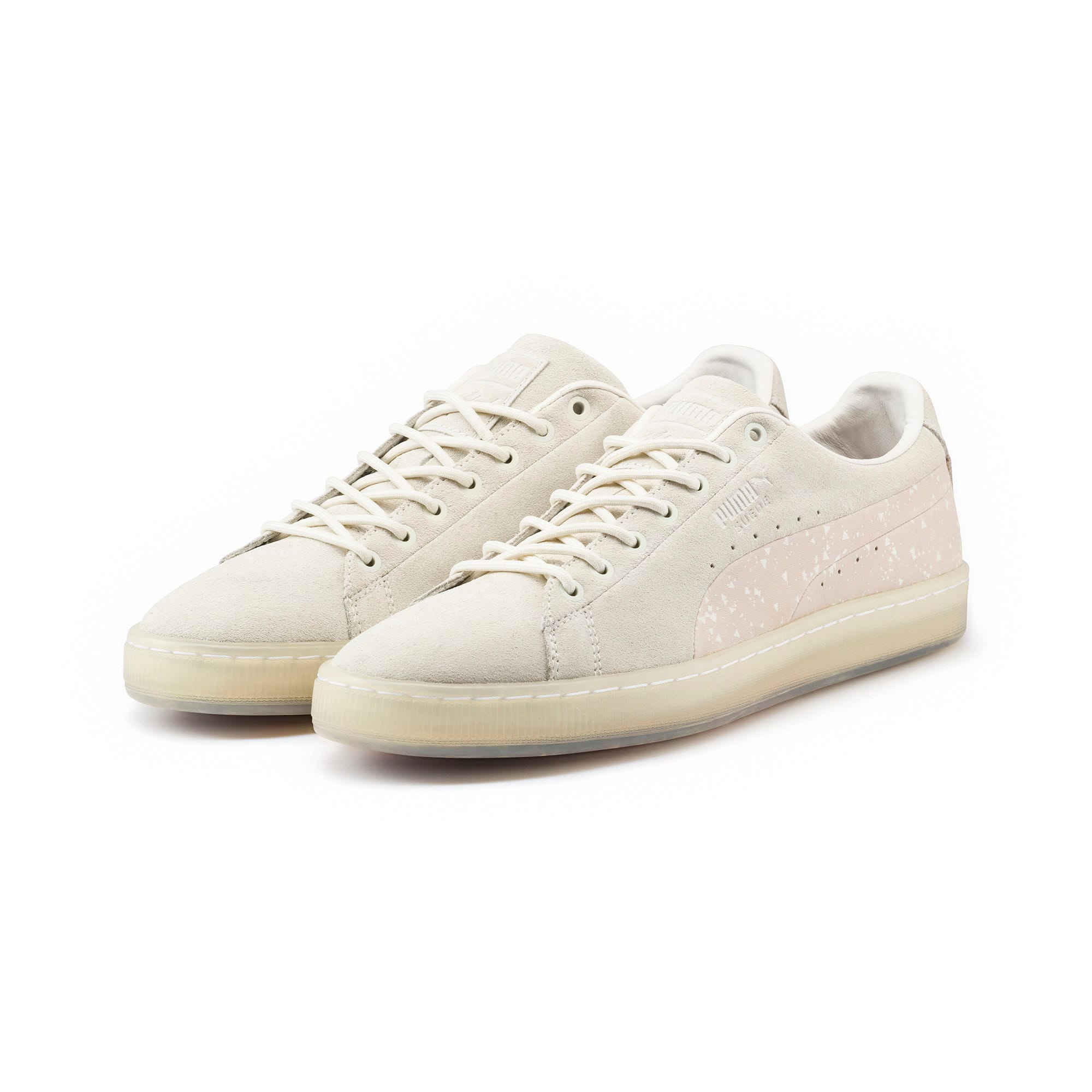 Thumbnail 2 of PUMA x NATUREL Suede Sneakers, Whisper White-Almond, medium