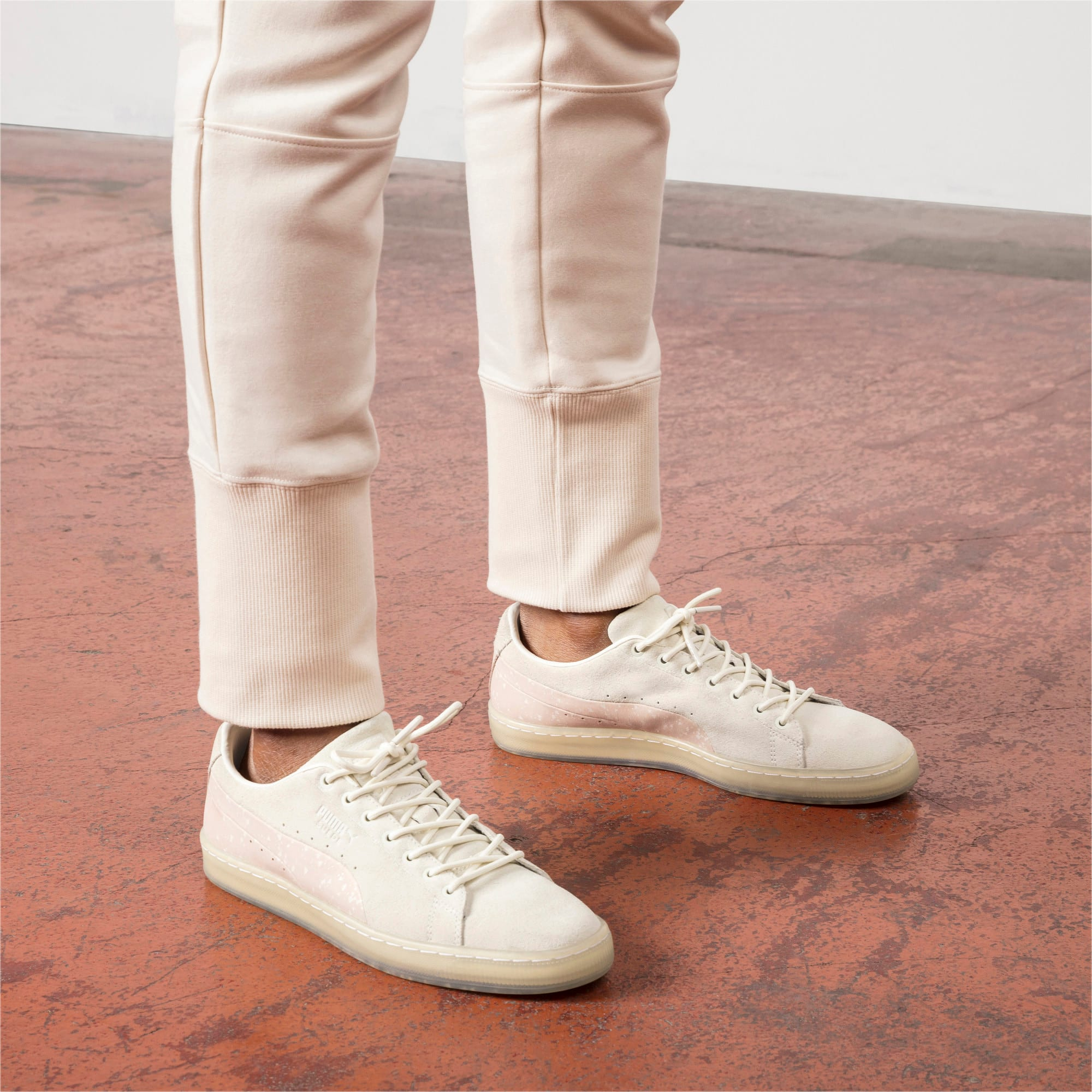 Thumbnail 7 of PUMA x NATUREL Suede Sneakers, Whisper White-Almond, medium
