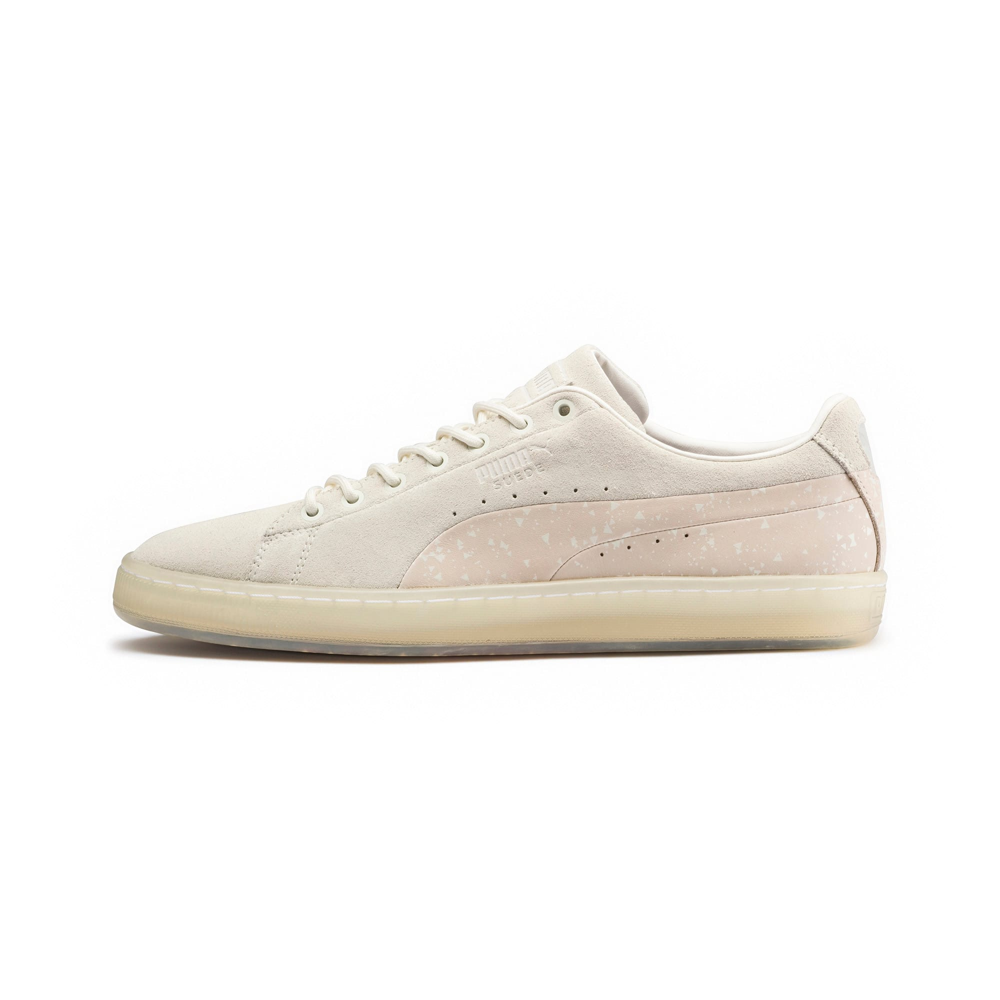 Thumbnail 1 of PUMA x NATUREL Suede Sneakers, Whisper White-Almond, medium