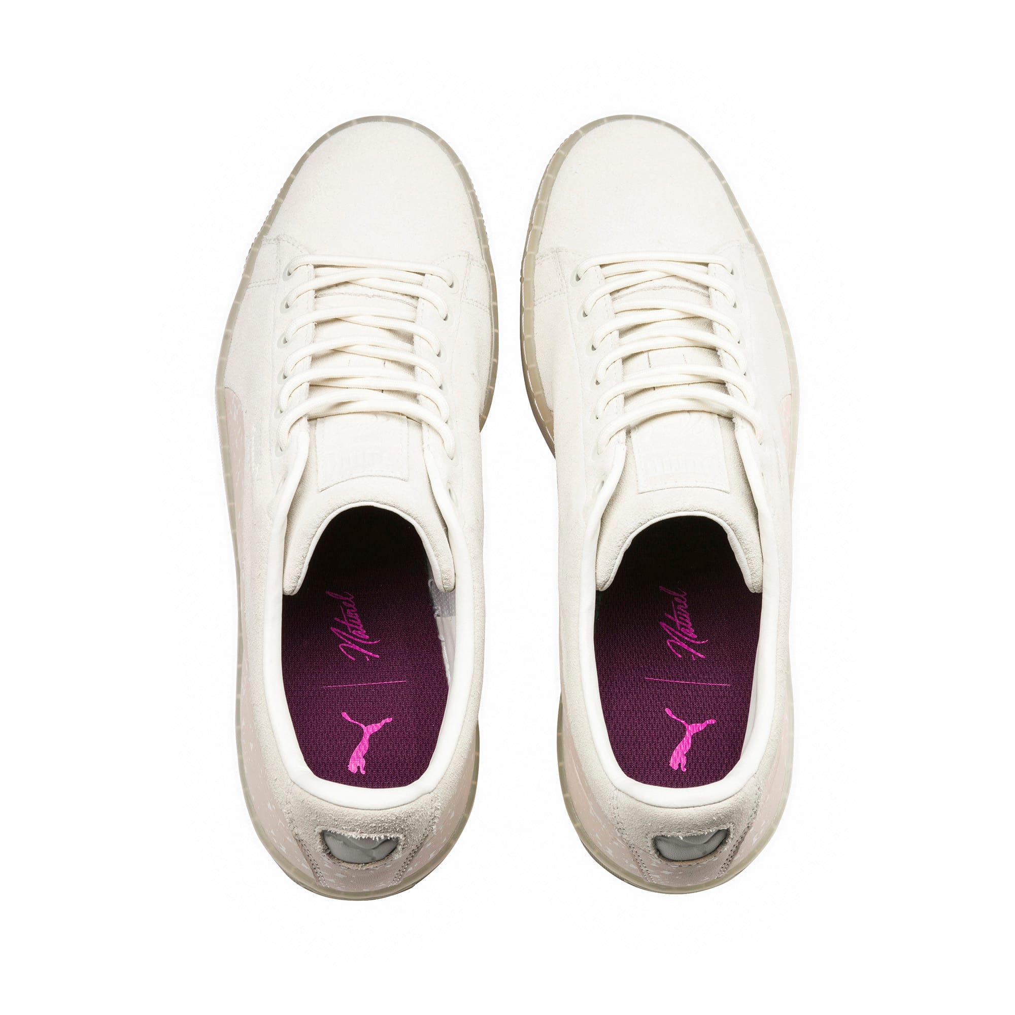 Thumbnail 5 of PUMA x NATUREL Suede Sneakers, Whisper White-Almond, medium