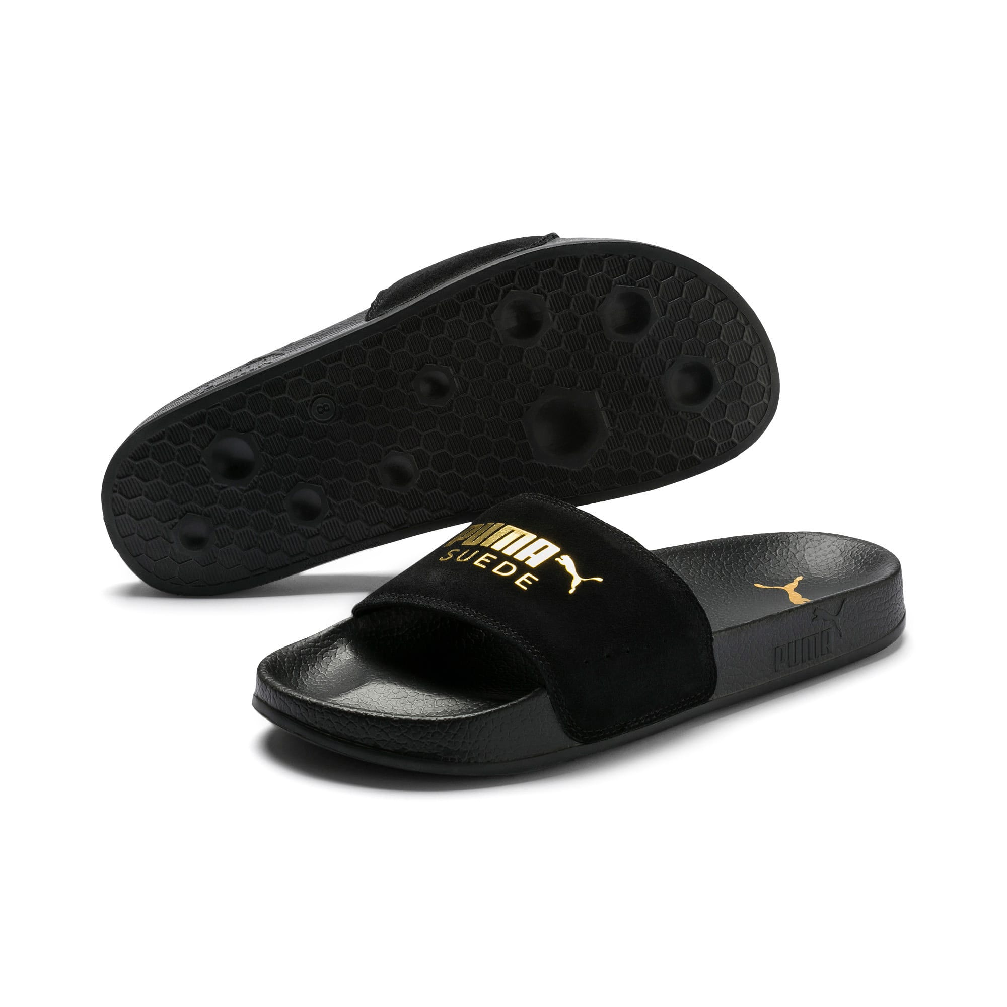 Thumbnail 2 of Suede Leadcat, Puma Black-Puma Team Gold, medium