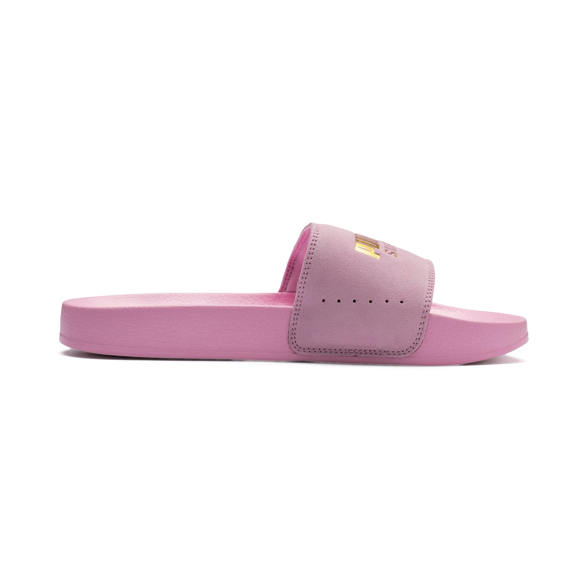 Thumbnail 5 of Suede Leadcat, Pale Pink-Puma Team Gold, medium