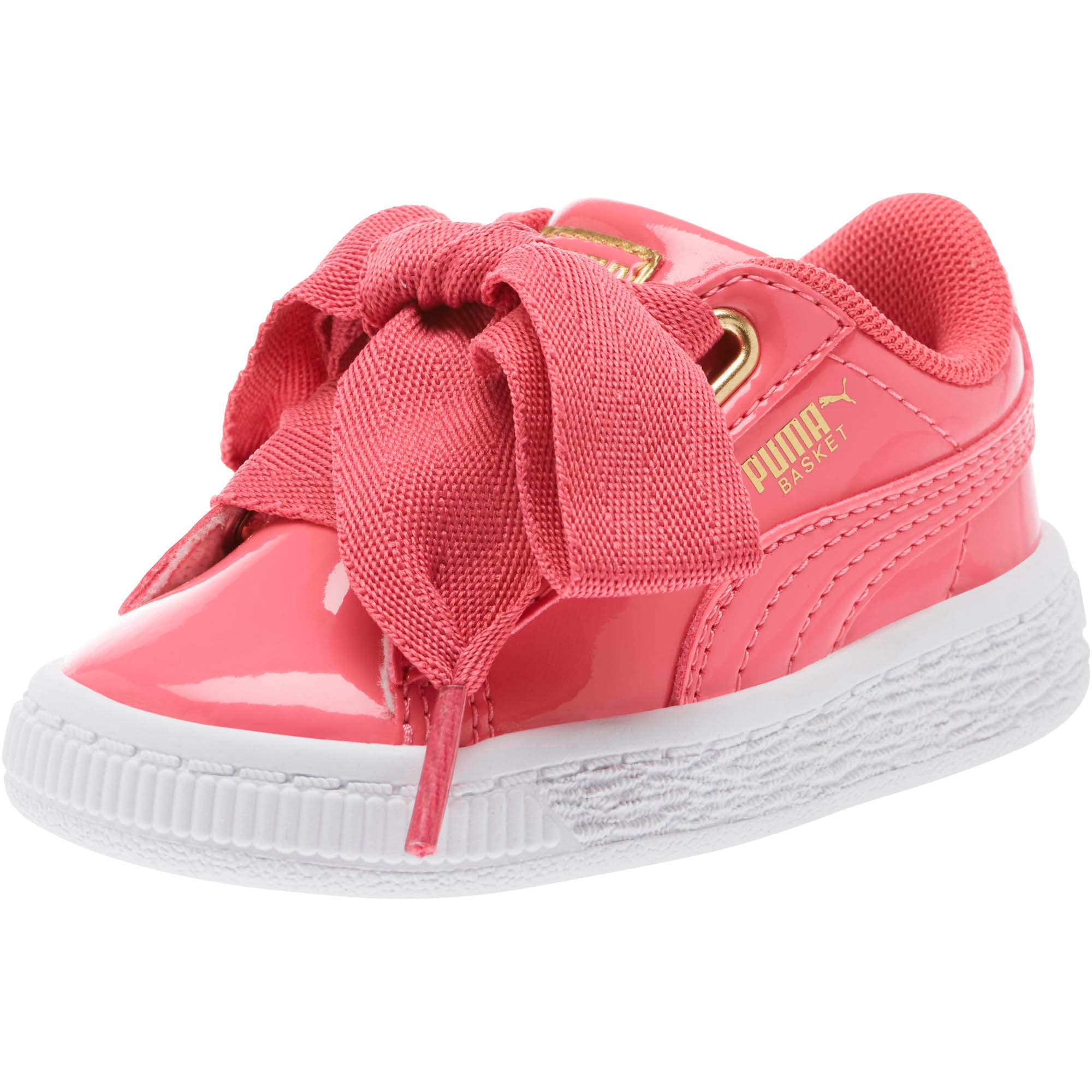 competitive price 1e648 f02ab Basket Heart Patent Gold Toddler' Shoes