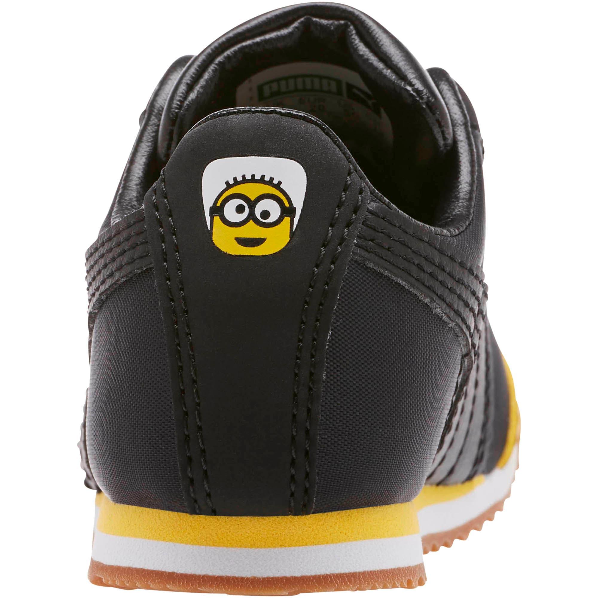 Thumbnail 4 of Minions Roma Toddler Shoes, Black-Minion Yellow-Black, medium