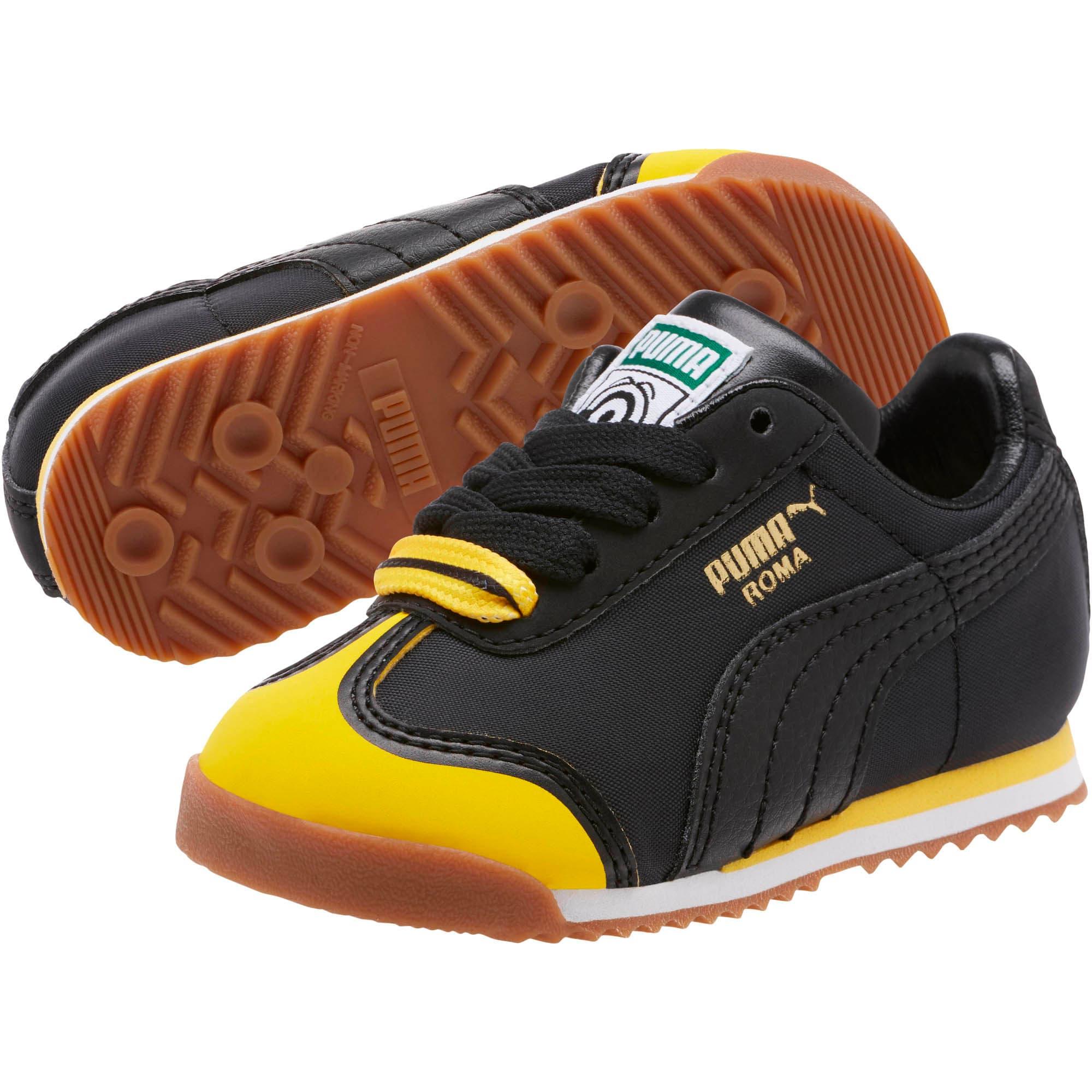 Thumbnail 2 of Minions Roma Toddler Shoes, Black-Minion Yellow-Black, medium