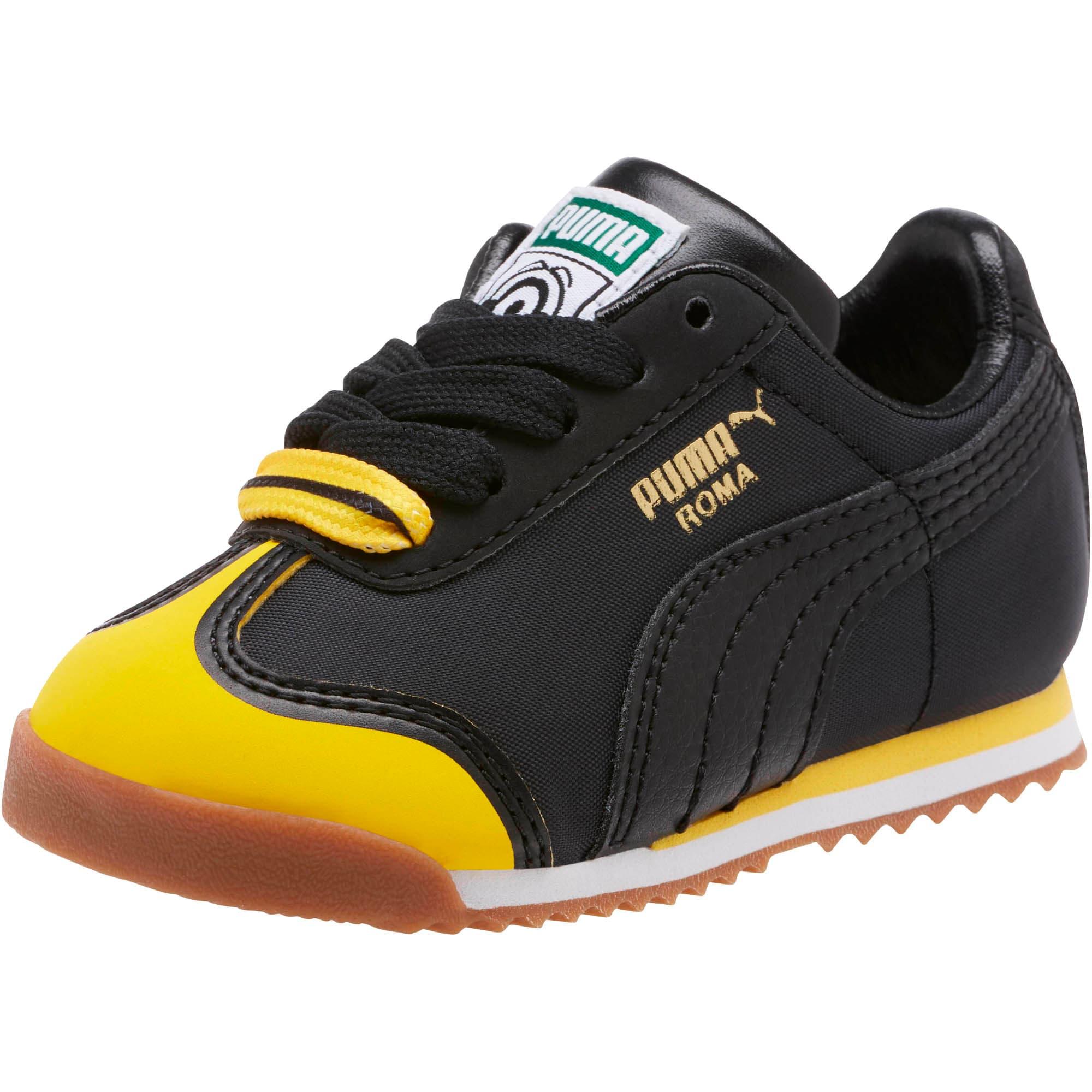 Thumbnail 1 of Minions Roma Toddler Shoes, Black-Minion Yellow-Black, medium