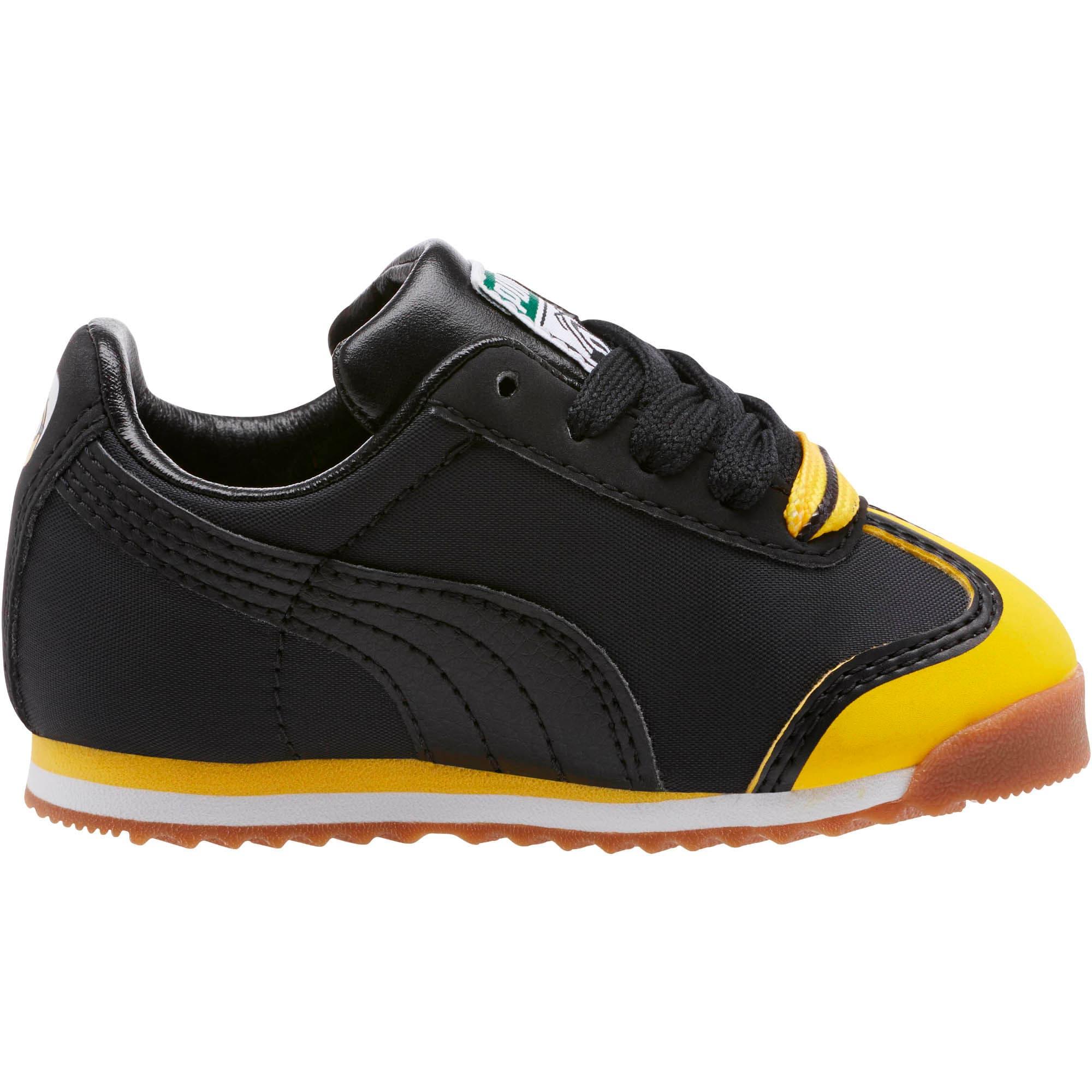 Thumbnail 3 of Minions Roma Toddler Shoes, Black-Minion Yellow-Black, medium