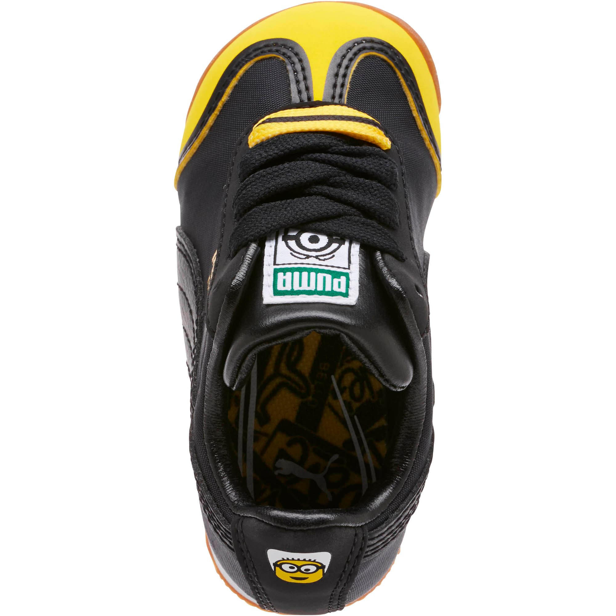 Thumbnail 5 of Minions Roma Toddler Shoes, Black-Minion Yellow-Black, medium