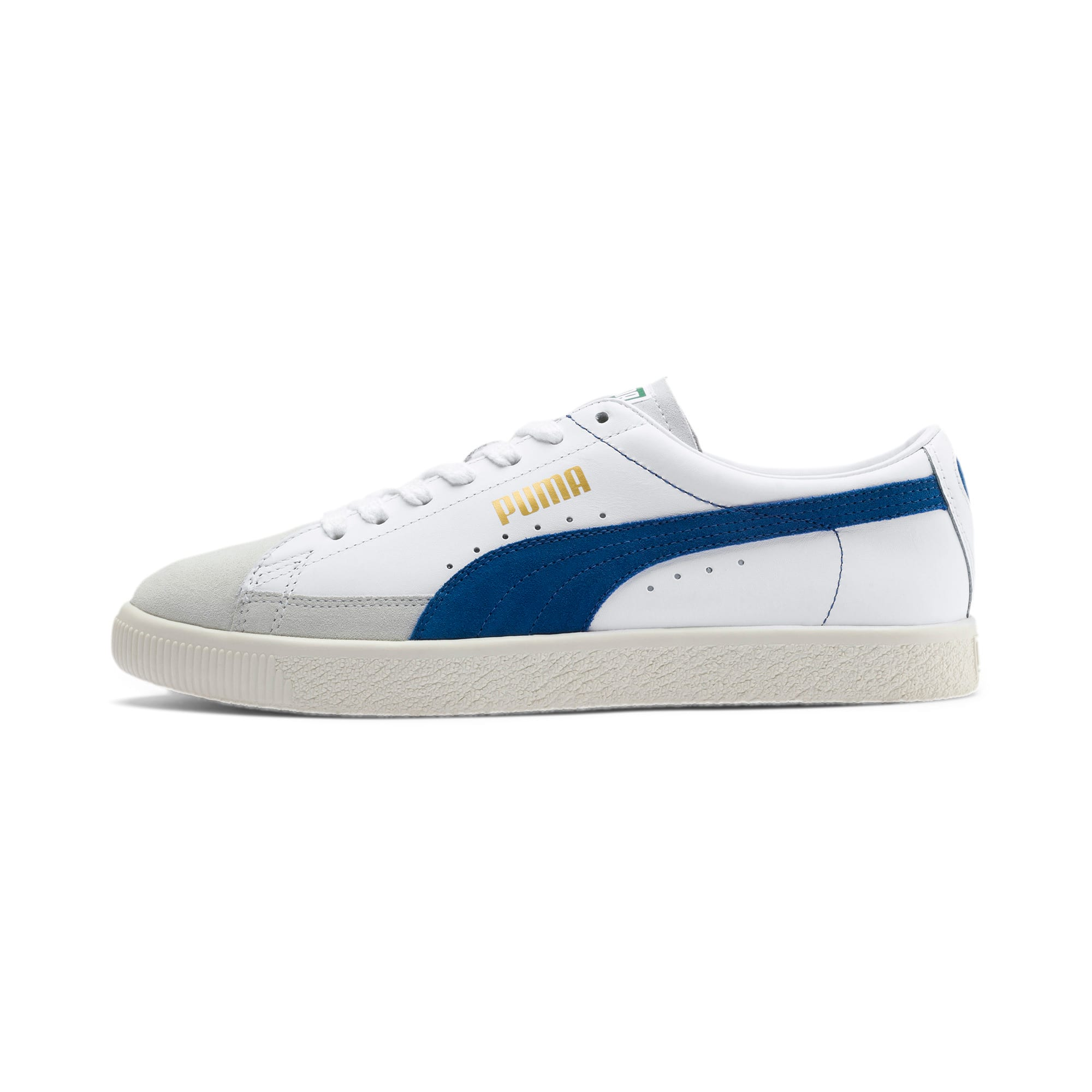 Thumbnail 1 of Basket 90680 Sneakers, Puma White-Galaxy Blue-Whisp, medium