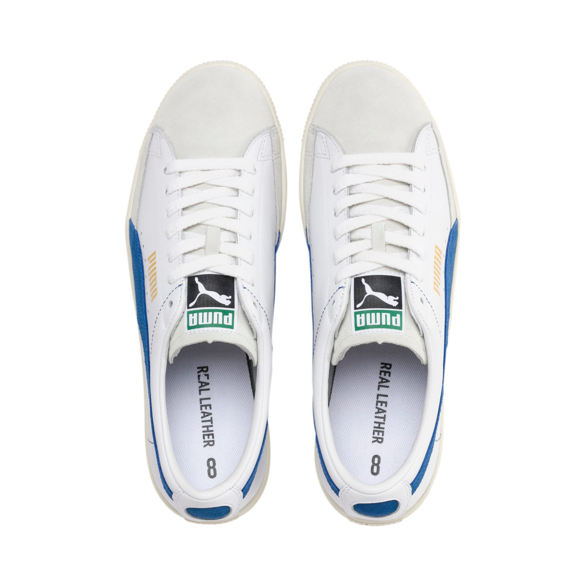 Thumbnail 7 of Basket 90680 Sneakers, Puma White-Galaxy Blue-Whisp, medium