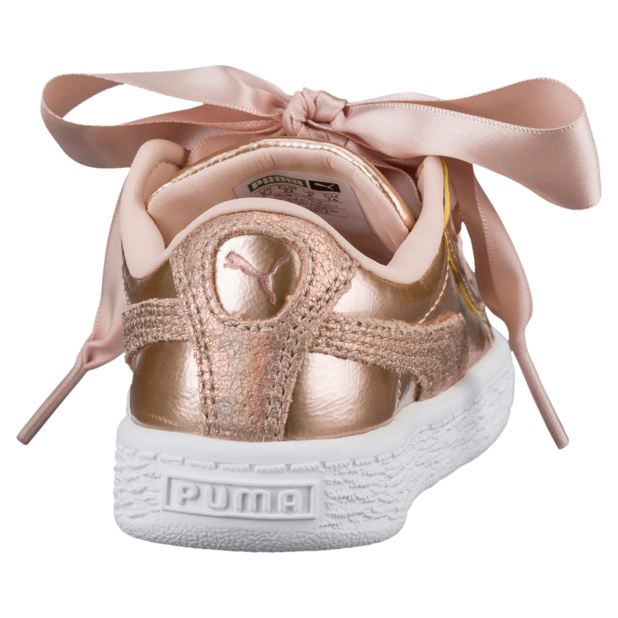 Thumbnail 4 of Basket Heart Lunar Lux Little Kids' Shoes, Cream Tan, medium