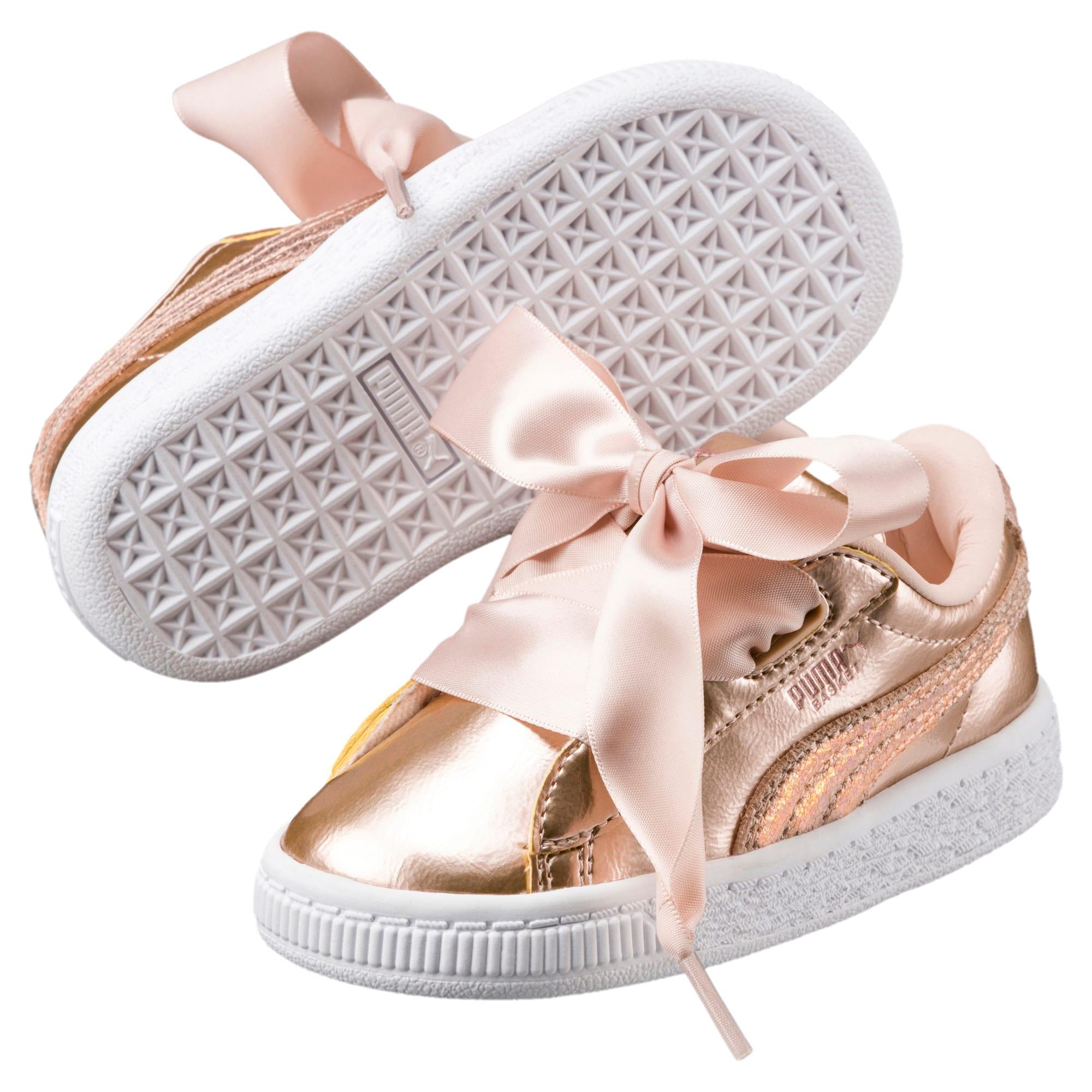 Thumbnail 2 of Basket Heart Lunar Lux Little Kids' Shoes, Cream Tan, medium