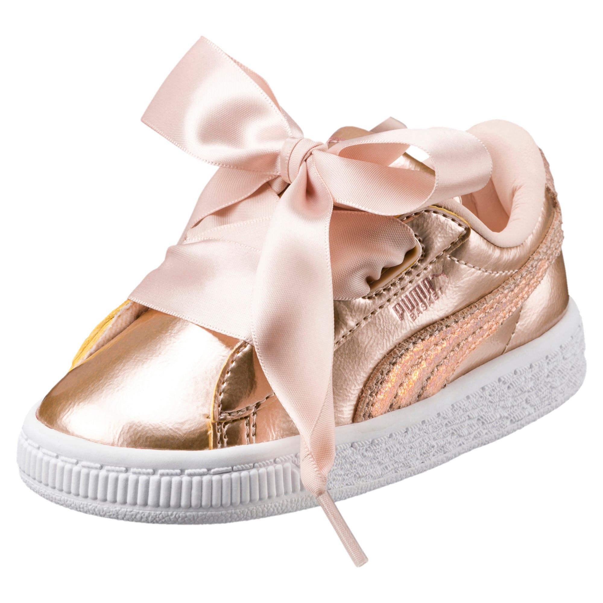 Thumbnail 1 of Basket Heart Lunar Lux Little Kids' Shoes, Cream Tan, medium