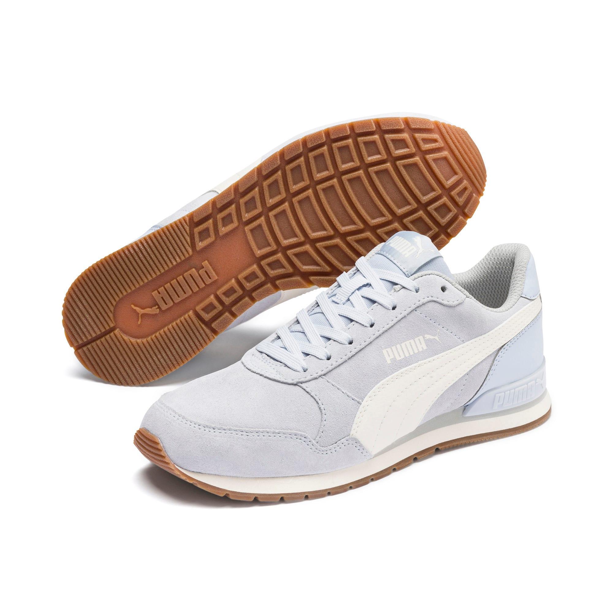 Thumbnail 2 of ST Runner v2 Suede Sneakers JR, Heather-Whisper White, medium