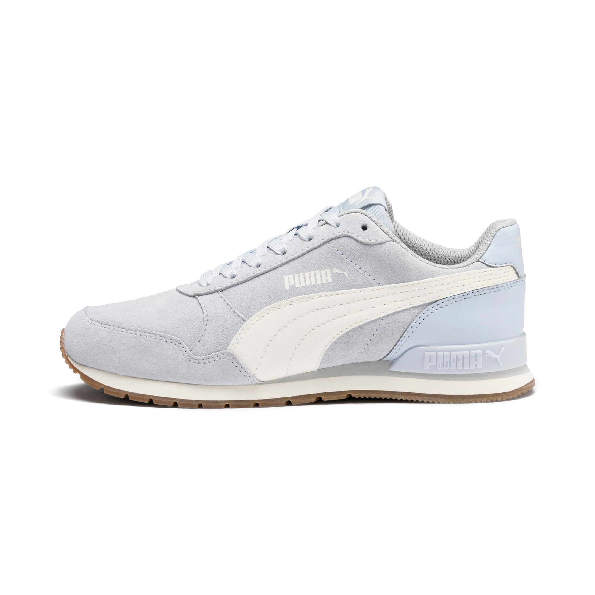 Thumbnail 1 of ST Runner v2 Suede Sneakers JR, Heather-Whisper White, medium