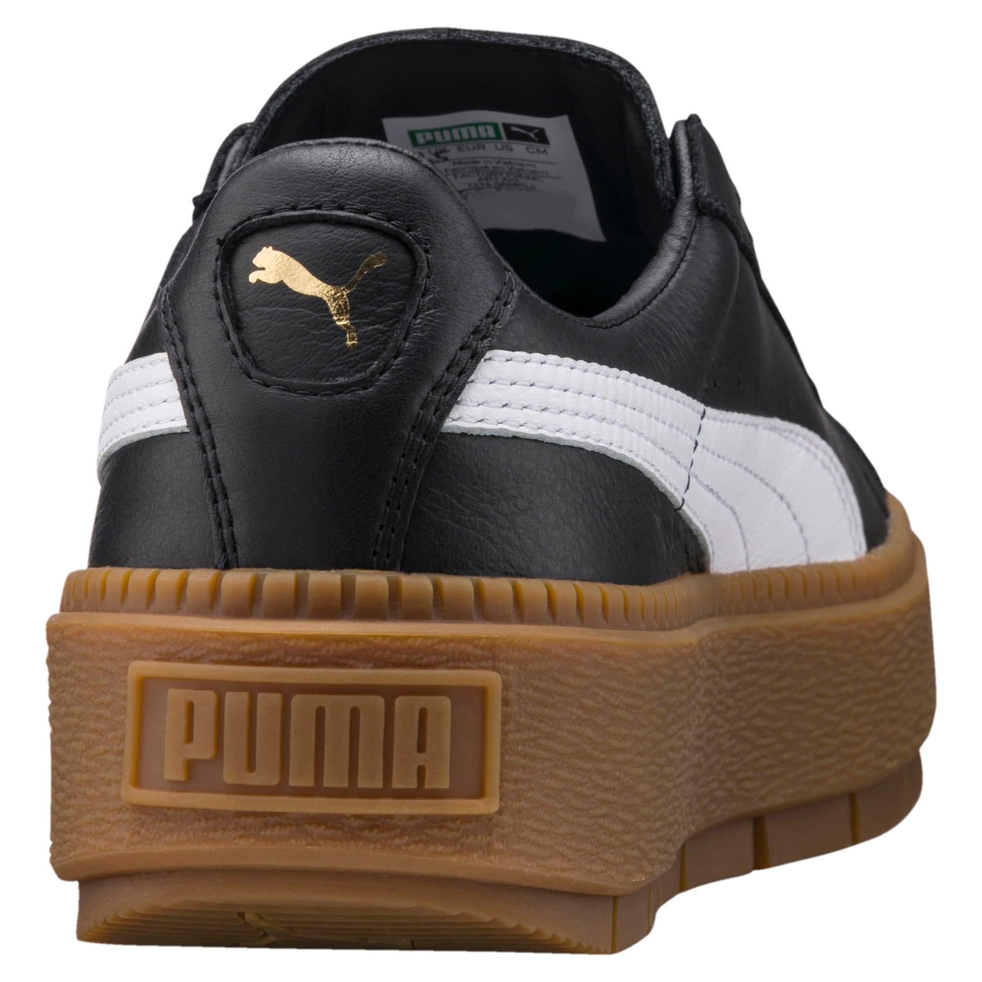 puma platform trace leather