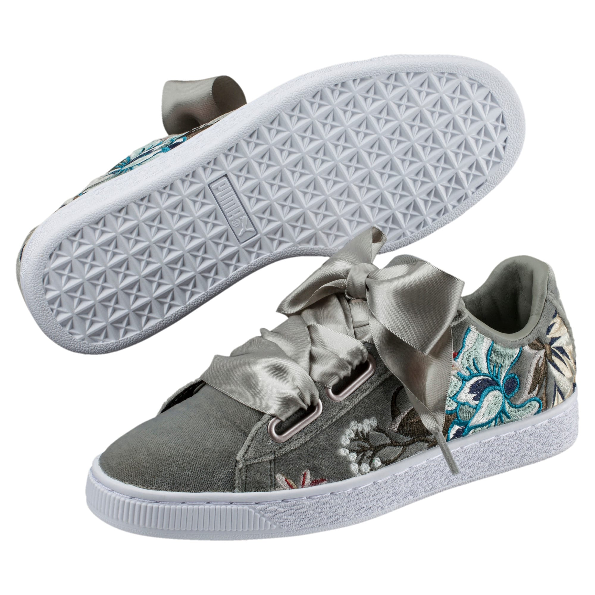 Sneakers Basket Heart Hyper aus Samt