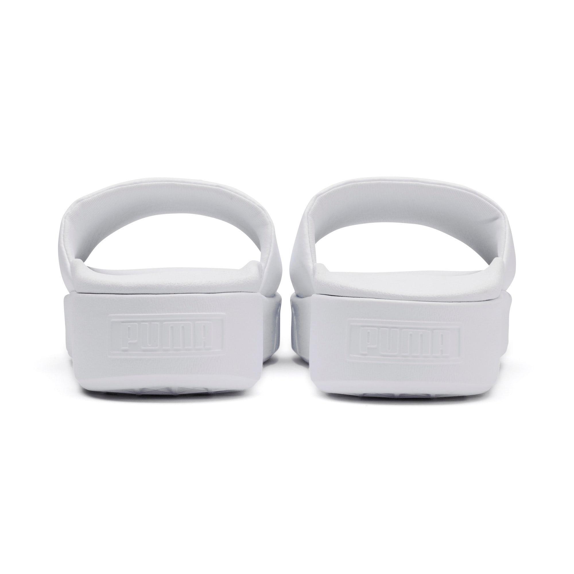 Thumbnail 3 of Platform Slide Women's Sandals, Puma White-Puma White, medium