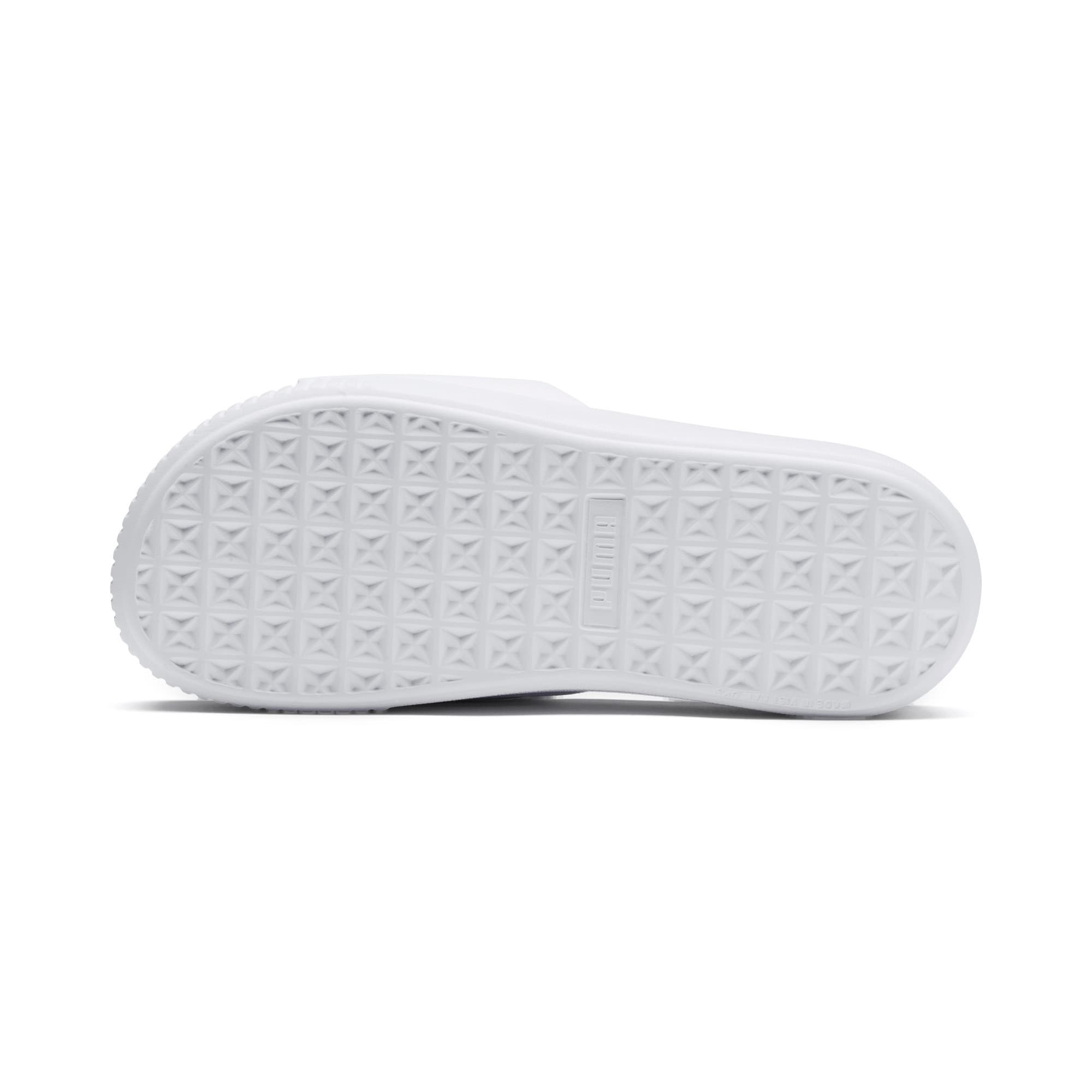 Thumbnail 4 of Platform Slide Women's Sandals, Puma White-Puma White, medium