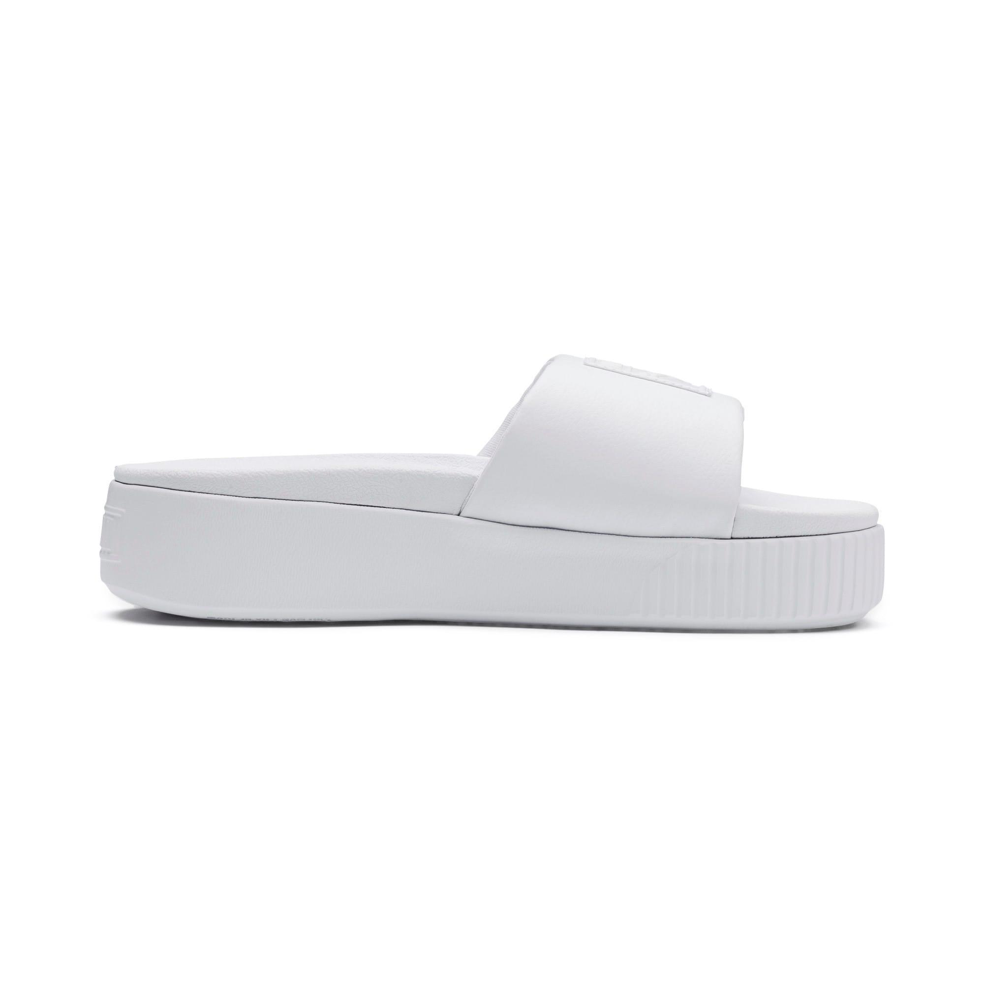 Thumbnail 5 of Platform Slide Women's Sandals, Puma White-Puma White, medium