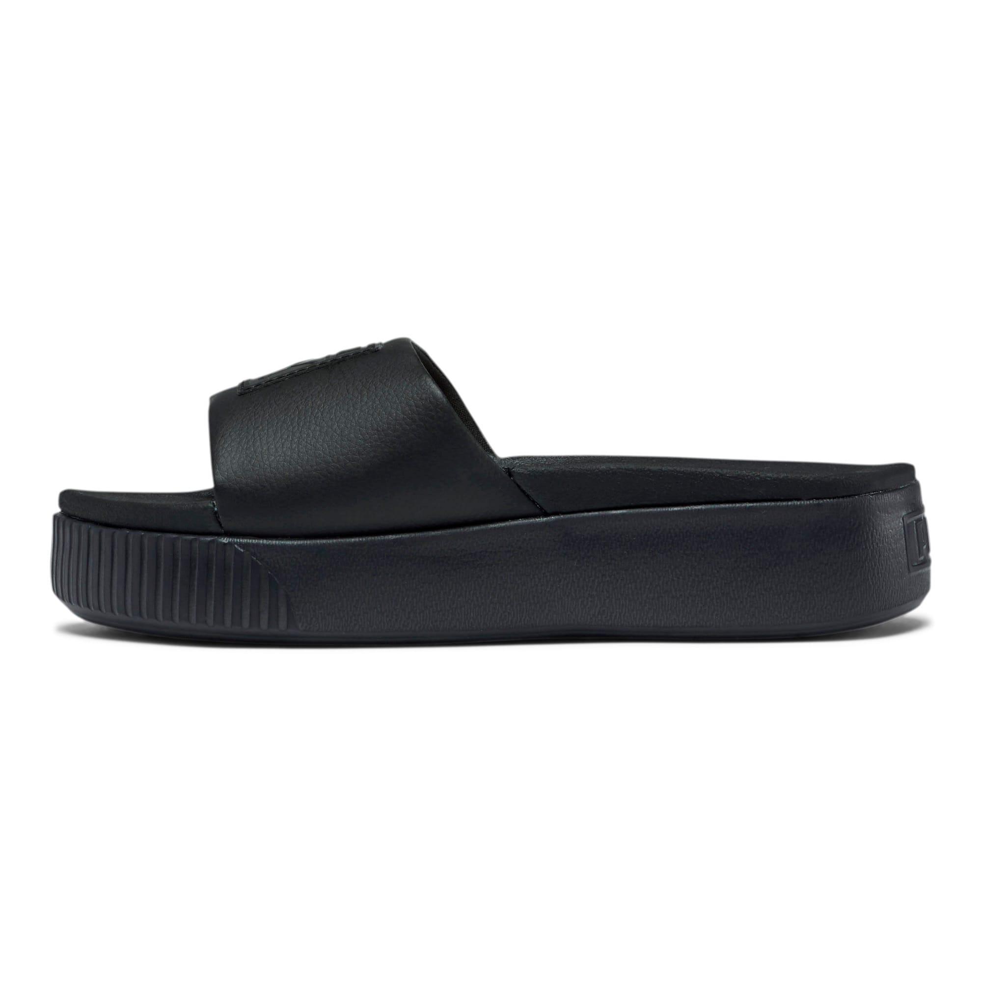 Thumbnail 1 of Platform Slide Women's Sandals, Puma Black-Puma Black, medium