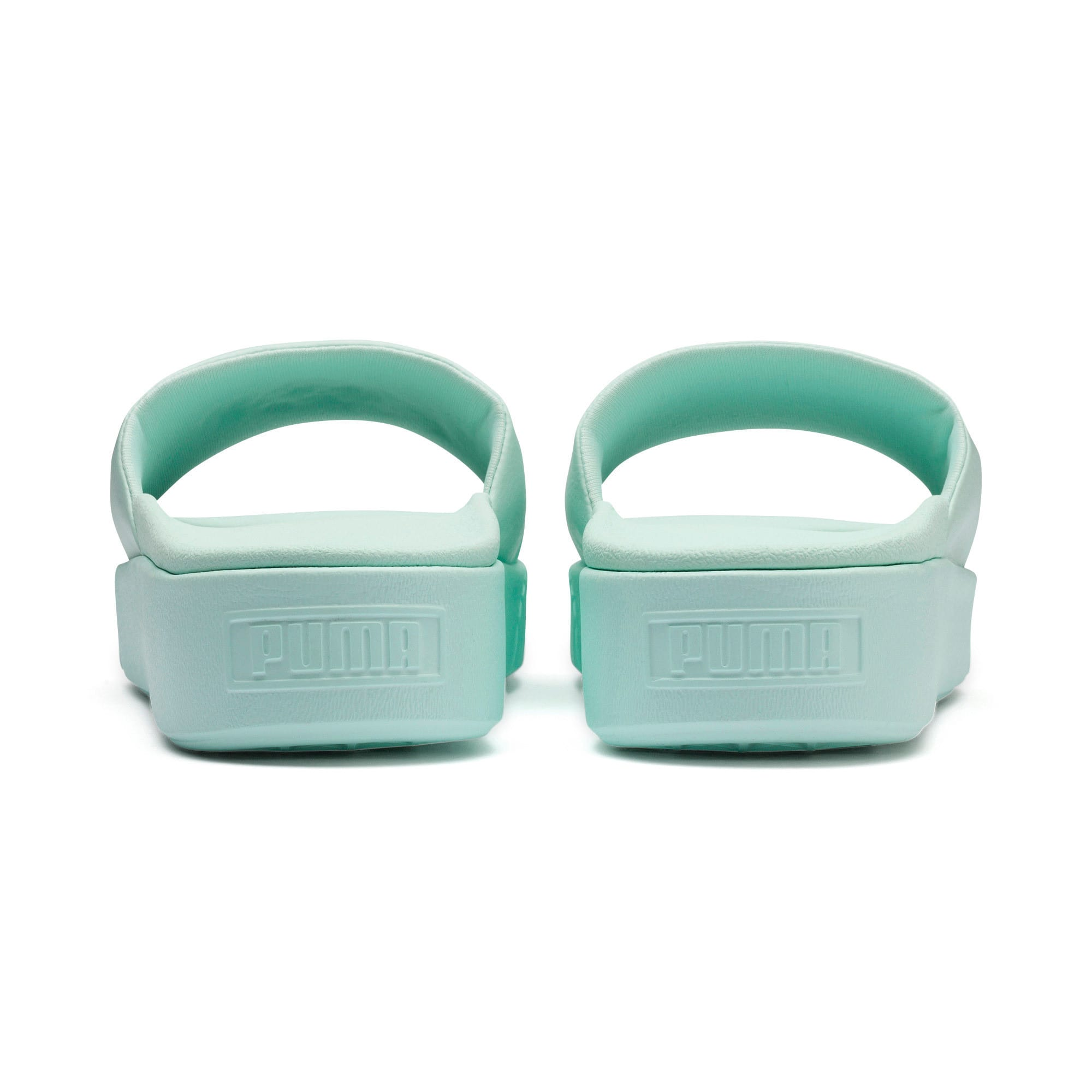 Thumbnail 3 of Platform Slide Women's Sandals, Fair Aqua-Fair Aqua, medium