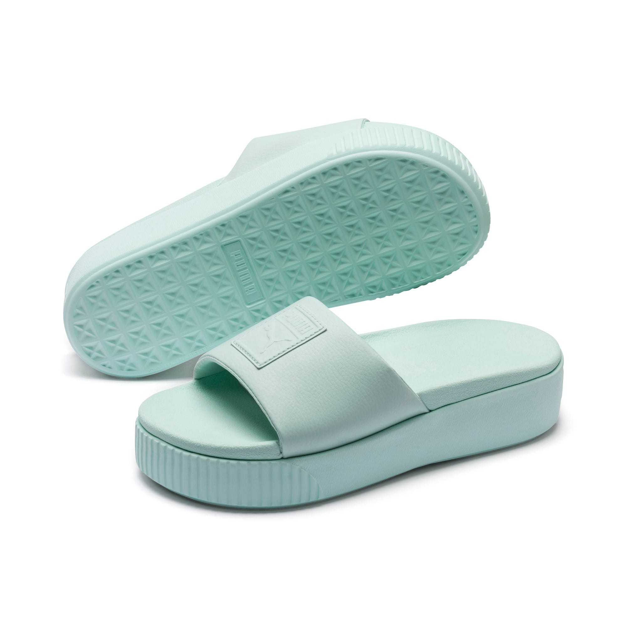 Thumbnail 2 of Platform Slide Women's Sandals, Fair Aqua-Fair Aqua, medium