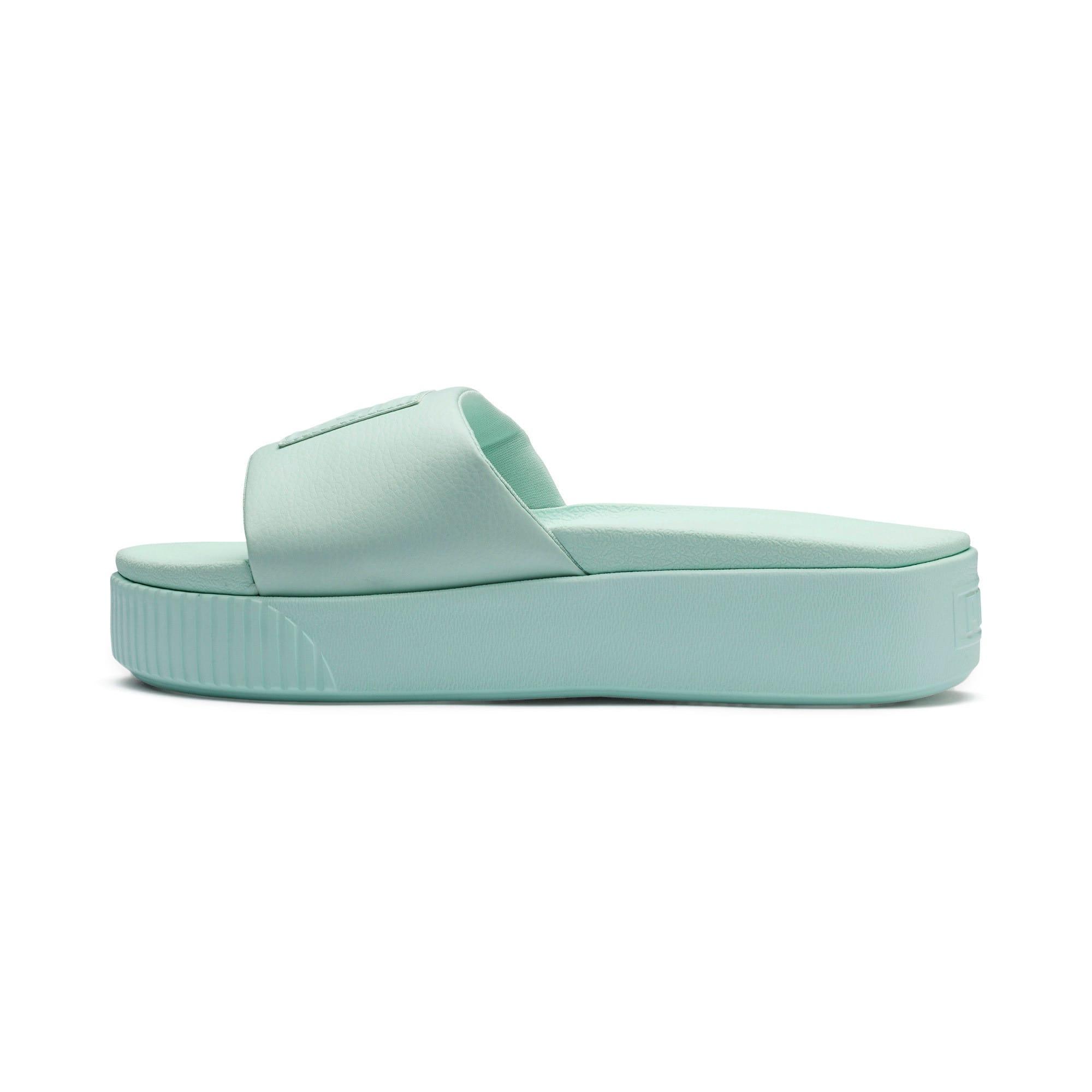 Thumbnail 1 of Platform Slide Women's Sandals, Fair Aqua-Fair Aqua, medium