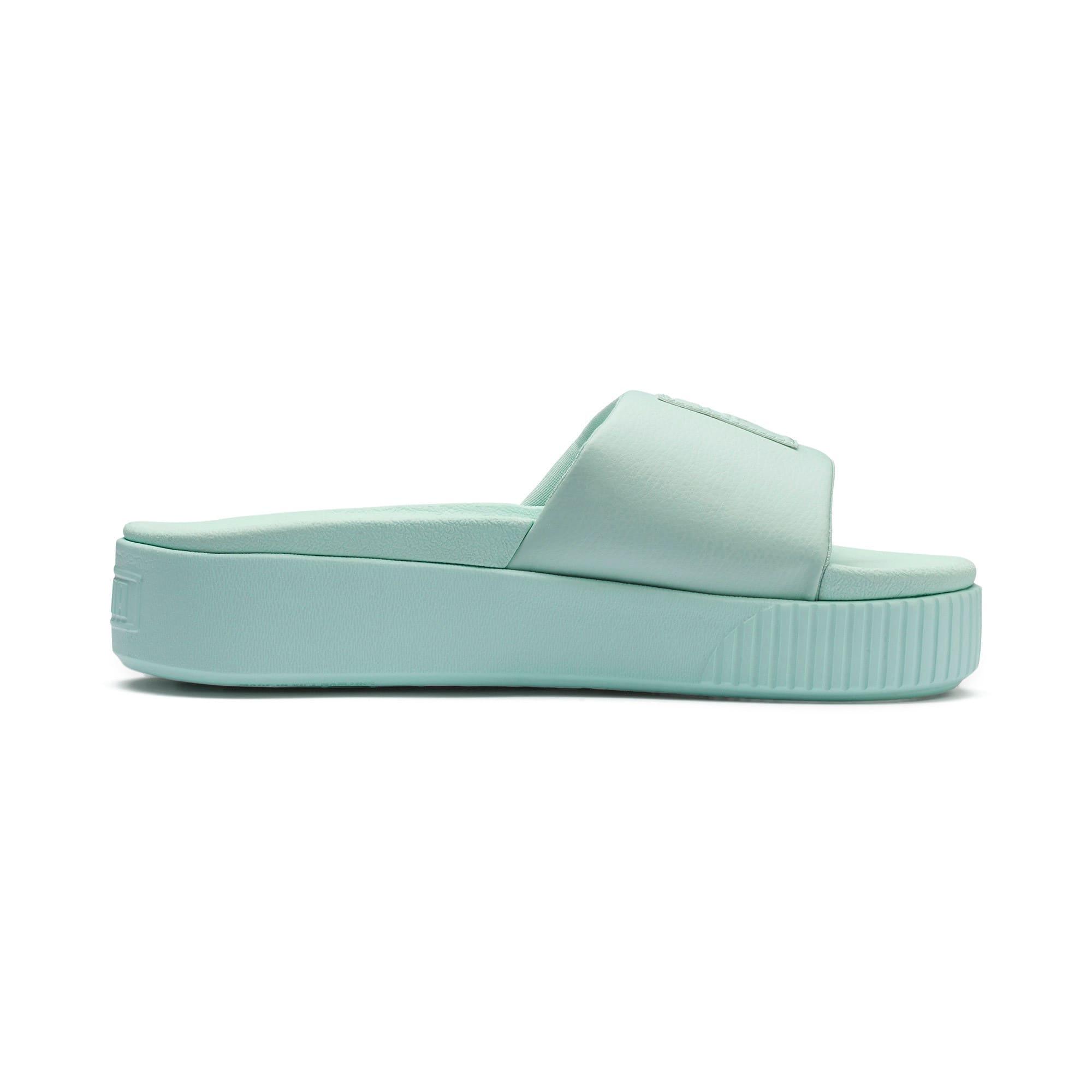 Thumbnail 5 of Platform Slide Women's Sandals, Fair Aqua-Fair Aqua, medium