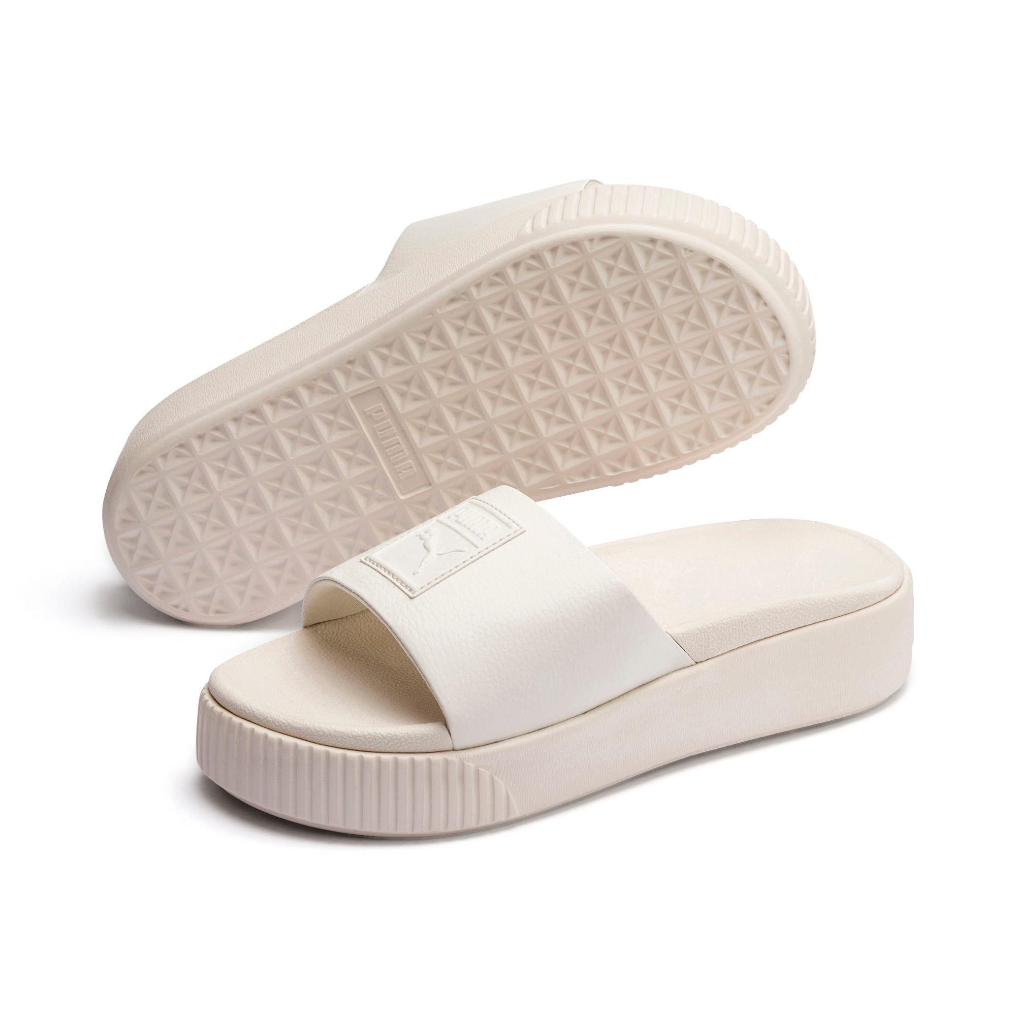 Thumbnail 2 of Platform Slide Women's Sandals, Pastel Parchment-Pastel Par., medium
