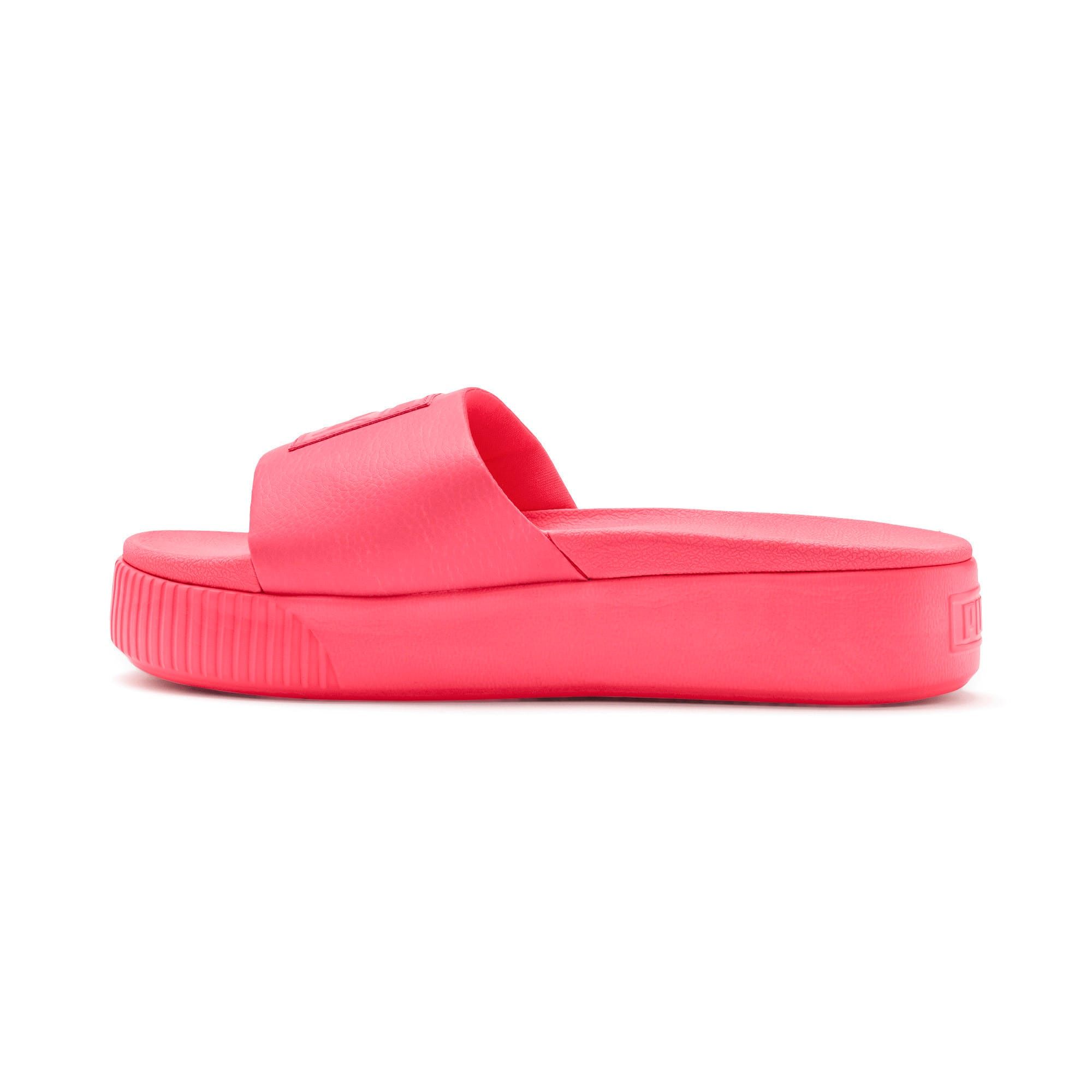 Thumbnail 1 of Platform Slide Women's Sandals, Pink Alert-Pink Alert, medium
