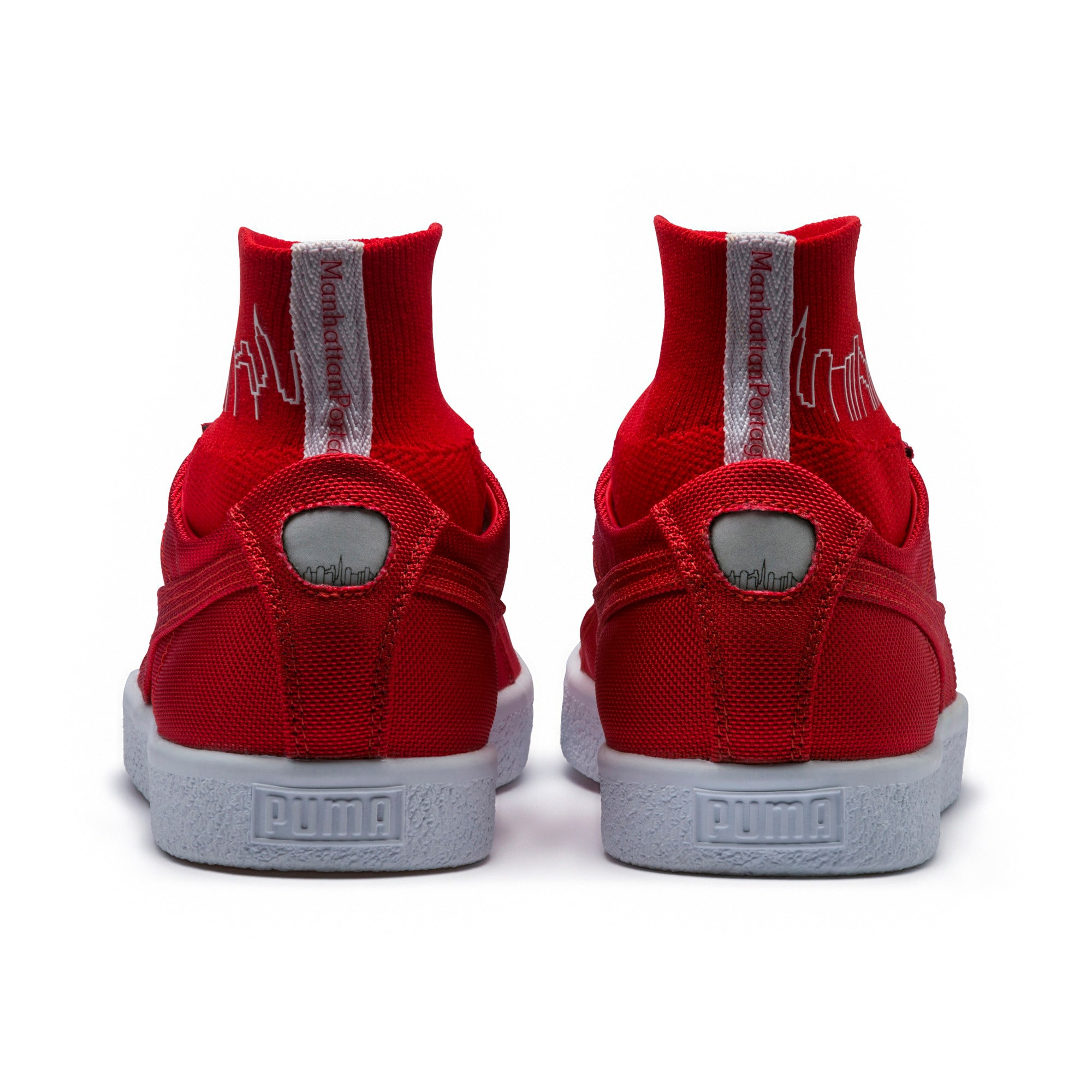 Thumbnail 4 of PUMA x MANHATTAN PORTAGE Clyde Sock Sneakers, High Risk Red-High Risk Red, medium