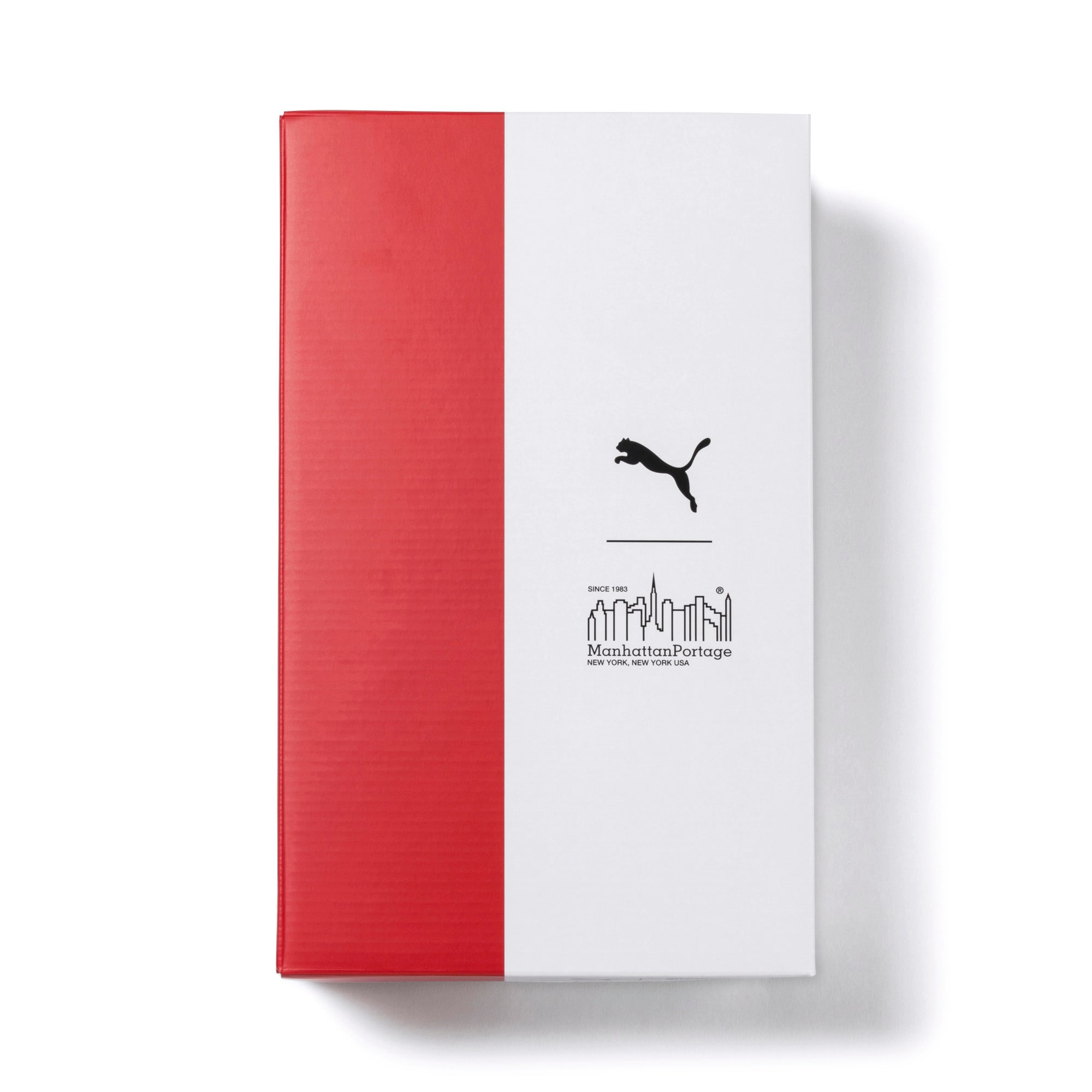 Thumbnail 6 of PUMA x MANHATTAN PORTAGE Clyde Sock Sneakers, High Risk Red-High Risk Red, medium