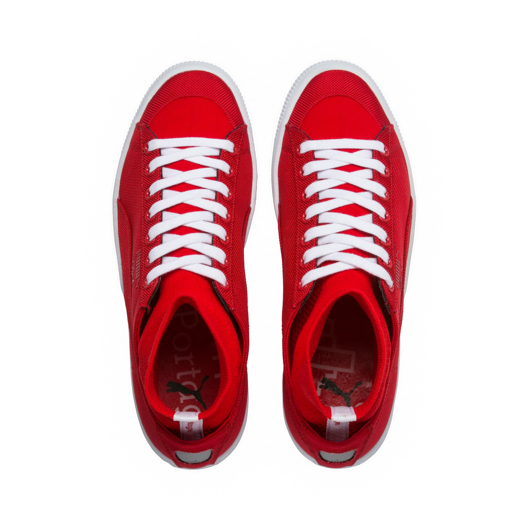 Thumbnail 5 of PUMA x MANHATTAN PORTAGE Clyde Sock Sneakers, High Risk Red-High Risk Red, medium