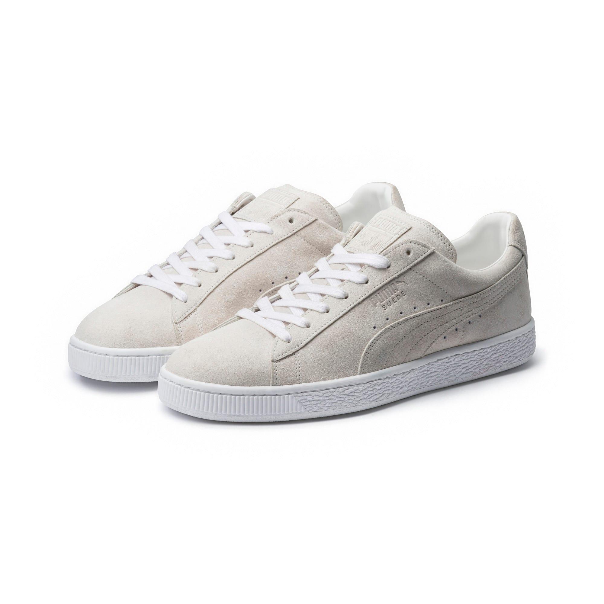Thumbnail 2 of Suede Classic White Sneakers, Puma White-Puma White, medium